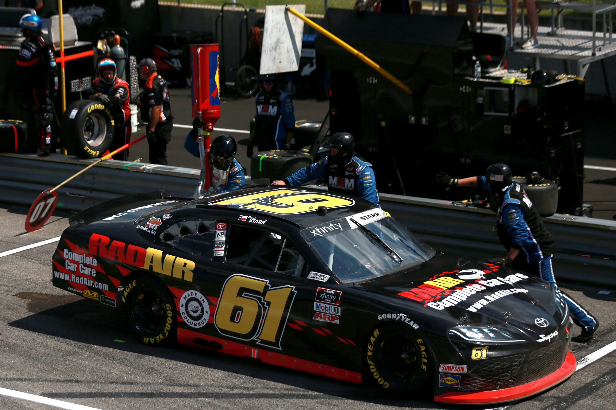 LEXINGTON, OHIO - JUNE 05: David Starr, driver of the #61 RadAir Complete Car Care Toyota, drives during the NASCAR Xfinity Series B&L Transport 170 at Mid-Ohio Sports Car Course on June 05, 2021 in Lexington, Ohio. (Photo by Sean Gardner/Getty Images) | Getty Images
