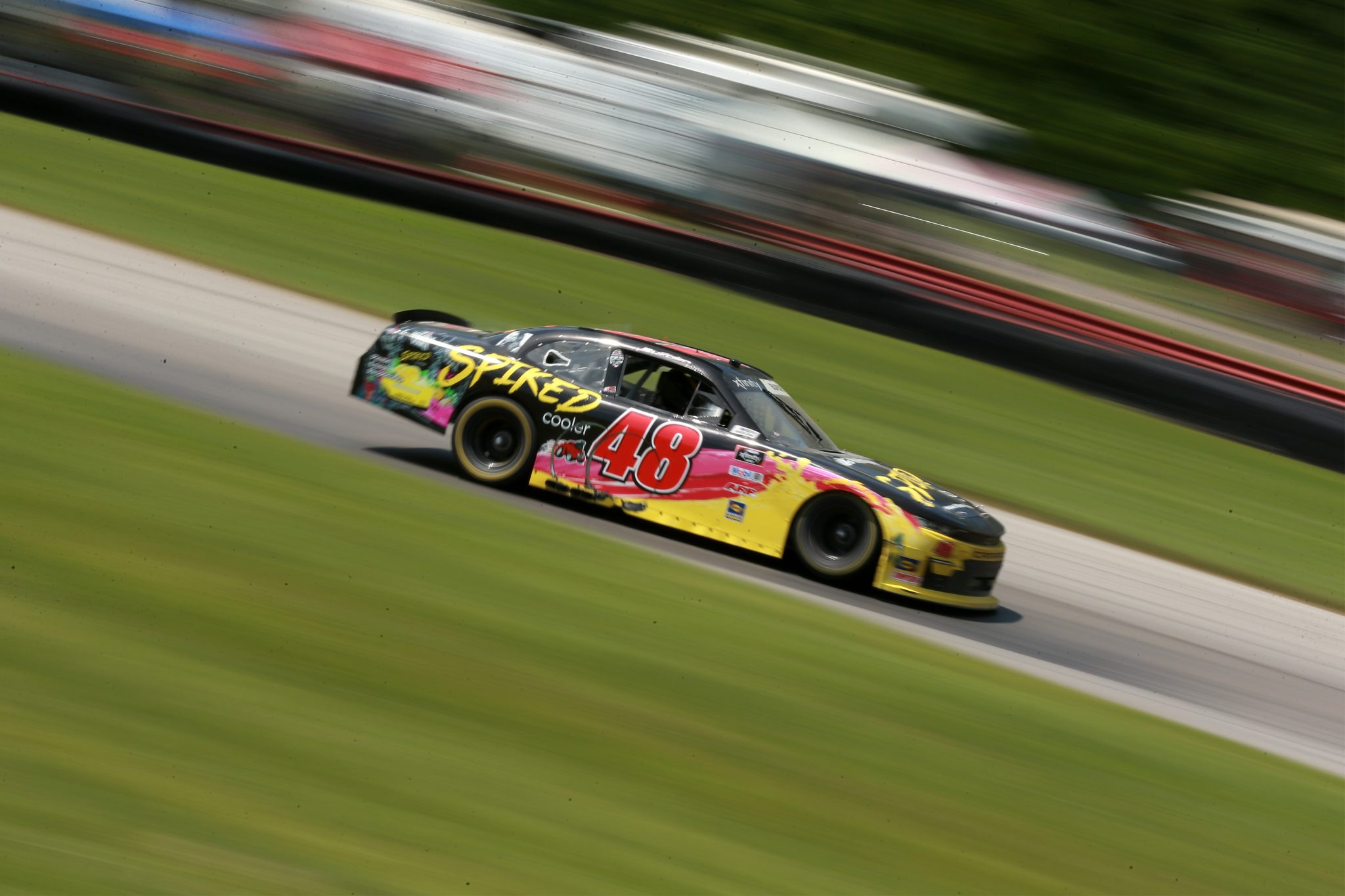 LEXINGTON, OHIO - JUNE 05: Jade Buford, driver of the #48 Big Machine Spiked Coolers Chevrolet, drives during the NASCAR Xfinity Series B&L Transport 170 at Mid-Ohio Sports Car Course on June 05, 2021 in Lexington, Ohio. (Photo by Sean Gardner/Getty Images) | Getty Images
