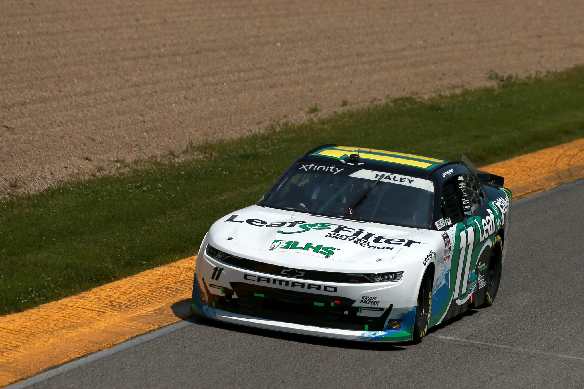 LEXINGTON, OHIO - JUNE 05: Justin Haley, driver of the #11 LeafFilter Gutter Protection Chevrolet, drives during the NASCAR Xfinity Series B&L Transport 170 at Mid-Ohio Sports Car Course on June 05, 2021 in Lexington, Ohio. (Photo by Sean Gardner/Getty Images) | Getty Images