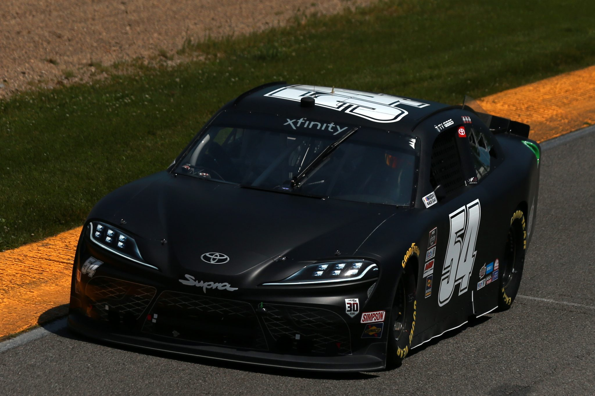 LEXINGTON, OHIO - JUNE 05: Ty Gibbs, driver of the #54 Joe Gibbs Racing Toyota, drives during the NASCAR Xfinity Series B&L Transport 170 at Mid-Ohio Sports Car Course on June 05, 2021 in Lexington, Ohio. (Photo by Sean Gardner/Getty Images) | Getty Images