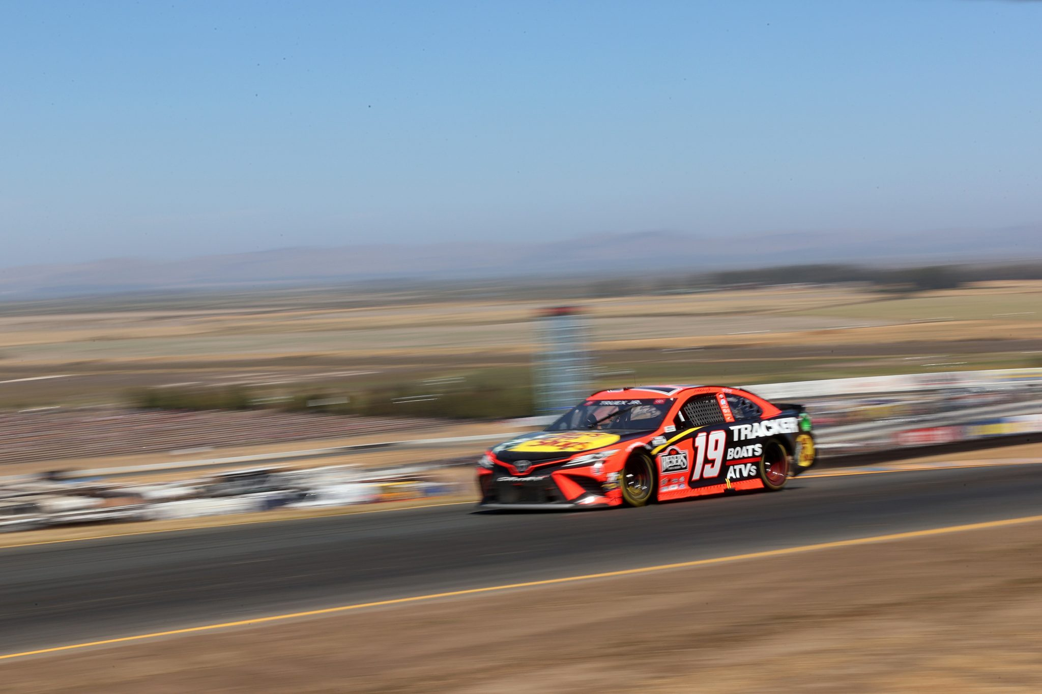 SONOMA, CALIFORNIA - JUNE 06: Martin Truex Jr., driver of the #19 Bass Pro Toyota, drives during the NASCAR Cup Series Toyota/Save Mart 350 at Sonoma Raceway on June 06, 2021 in Sonoma, California. (Photo by Carmen Mandato/Getty Images) | Getty Images