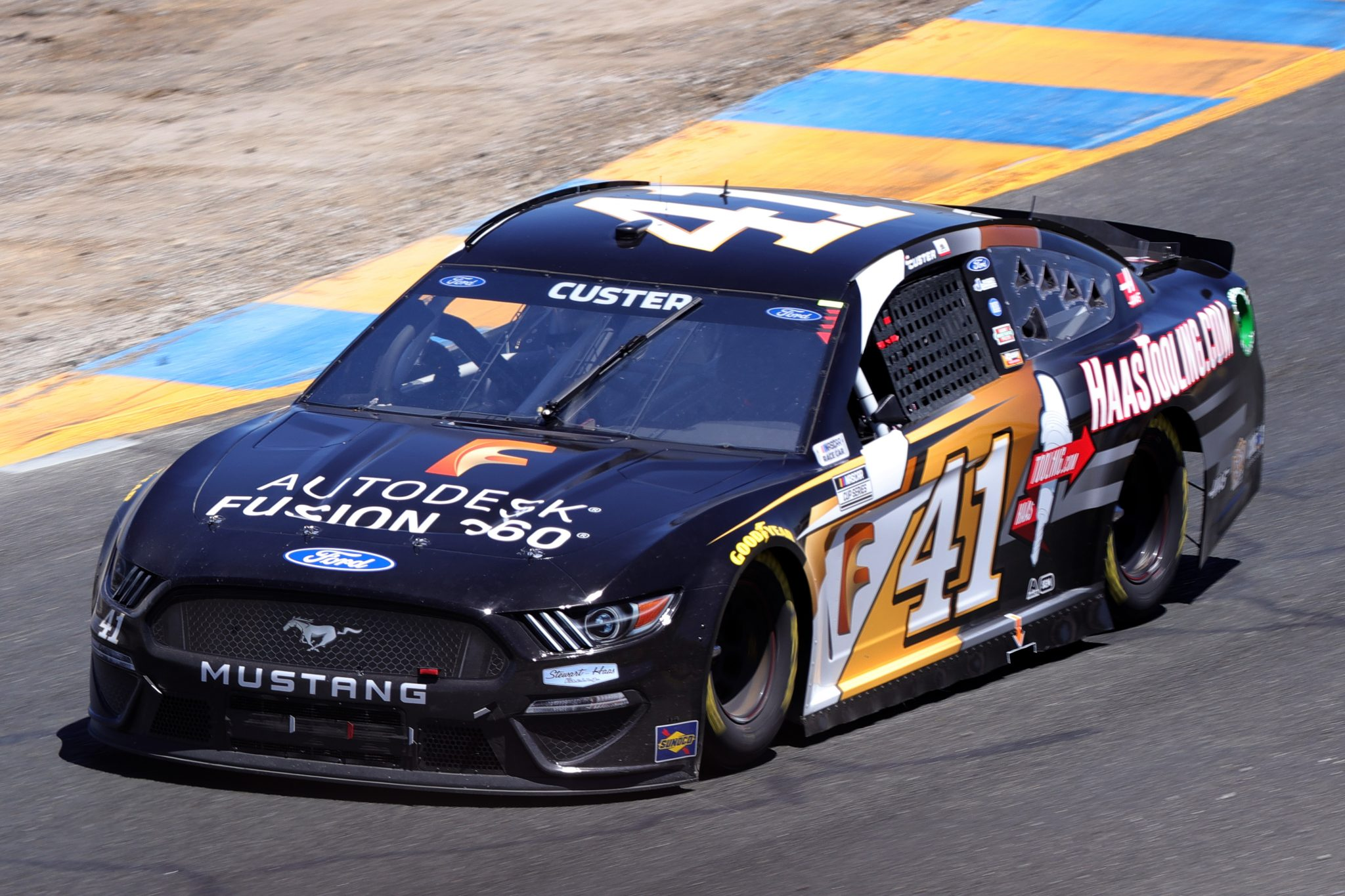 SONOMA, CALIFORNIA - JUNE 06: Cole Custer, driver of the #41 Autodesk/HaasTooling.com Ford, drives during the NASCAR Cup Series Toyota/Save Mart 350 at Sonoma Raceway on June 06, 2021 in Sonoma, California. (Photo by Carmen Mandato/Getty Images) | Getty Images
