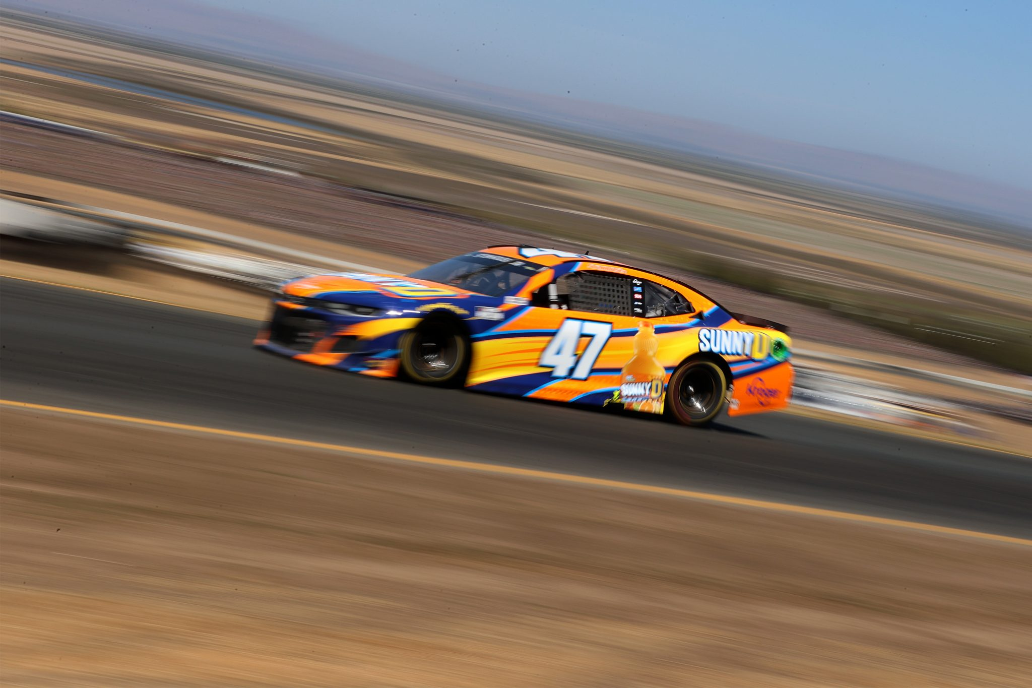 SONOMA, CALIFORNIA - JUNE 06: Ricky Stenhouse Jr., driver of the #47 SunnyD Chevrolet, drives during the NASCAR Cup Series Toyota/Save Mart 350 at Sonoma Raceway on June 06, 2021 in Sonoma, California. (Photo by Carmen Mandato/Getty Images) | Getty Images