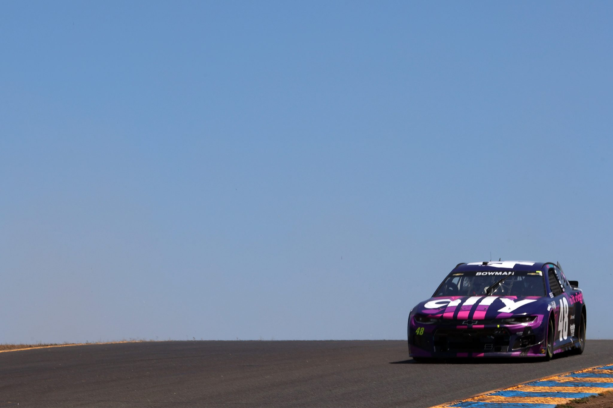 SONOMA, CALIFORNIA - JUNE 06: Alex Bowman, driver of the #48 Ally Chevrolet, drives during the NASCAR Cup Series Toyota/Save Mart 350 at Sonoma Raceway on June 06, 2021 in Sonoma, California. (Photo by Carmen Mandato/Getty Images) | Getty Images