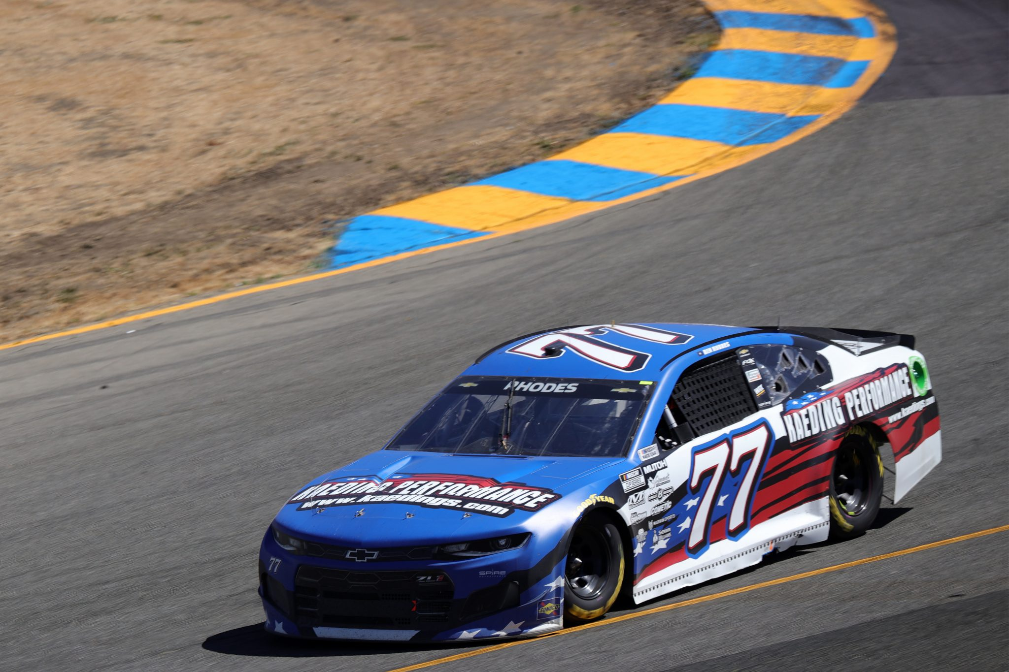SONOMA, CALIFORNIA - JUNE 06: Ben Rhodes, driver of the #77 Kaeding Performance Chevrolet, drives during the NASCAR Cup Series Toyota/Save Mart 350 at Sonoma Raceway on June 06, 2021 in Sonoma, California. (Photo by Carmen Mandato/Getty Images) | Getty Images
