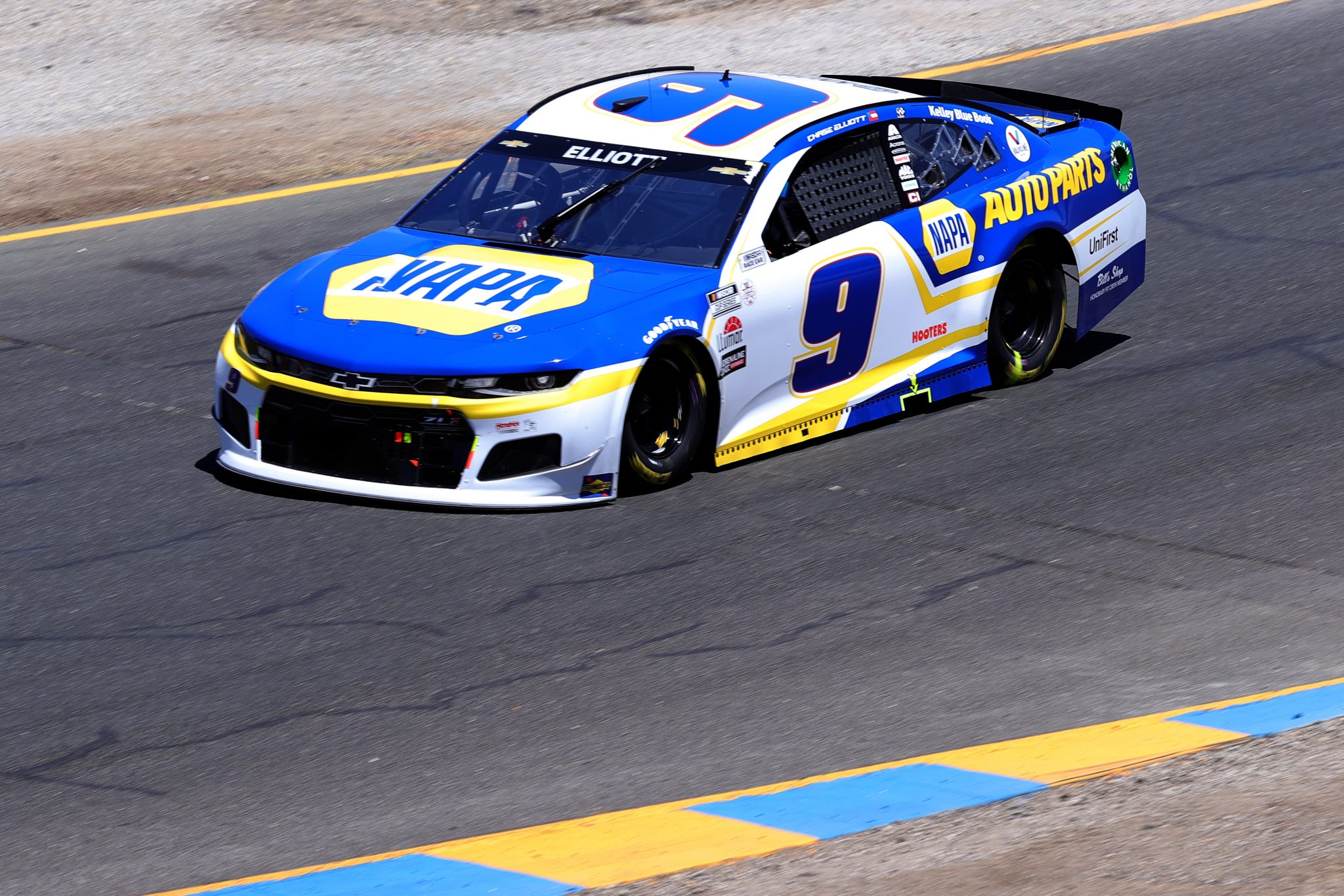 SONOMA, CALIFORNIA - JUNE 06: Chase Elliott, driver of the #9 NAPA Auto Parts Chevrolet, drives during the NASCAR Cup Series Toyota/Save Mart 350 at Sonoma Raceway on June 06, 2021 in Sonoma, California. (Photo by Carmen Mandato/Getty Images) | Getty Images