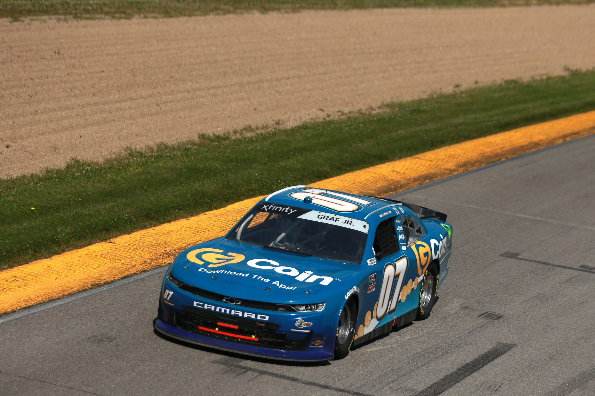 LEXINGTON, OHIO - JUNE 05: Joe Graf Jr., driver of the #07 G-Coin Chevrolet, drives during the NASCAR Xfinity Series B&L Transport 170 at Mid-Ohio Sports Car Course on June 05, 2021 in Lexington, Ohio. (Photo by Sean Gardner/Getty Images) | Getty Images
