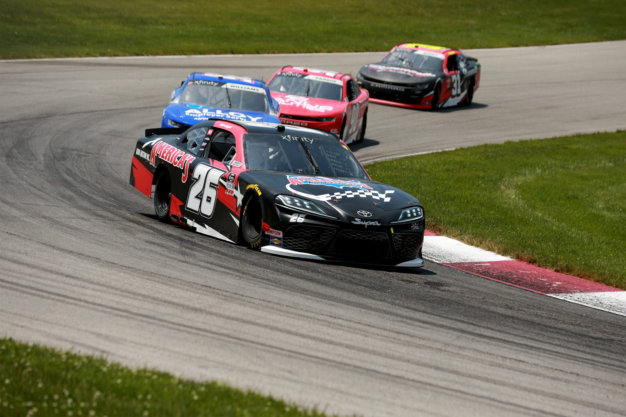 LEXINGTON, OHIO - JUNE 05: Kris Wright, driver of the #26 America's Auto Auction Toyota, drives during the NASCAR Xfinity Series B&L Transport 170 at Mid-Ohio Sports Car Course on June 05, 2021 in Lexington, Ohio. (Photo by Sean Gardner/Getty Images) | Getty Images