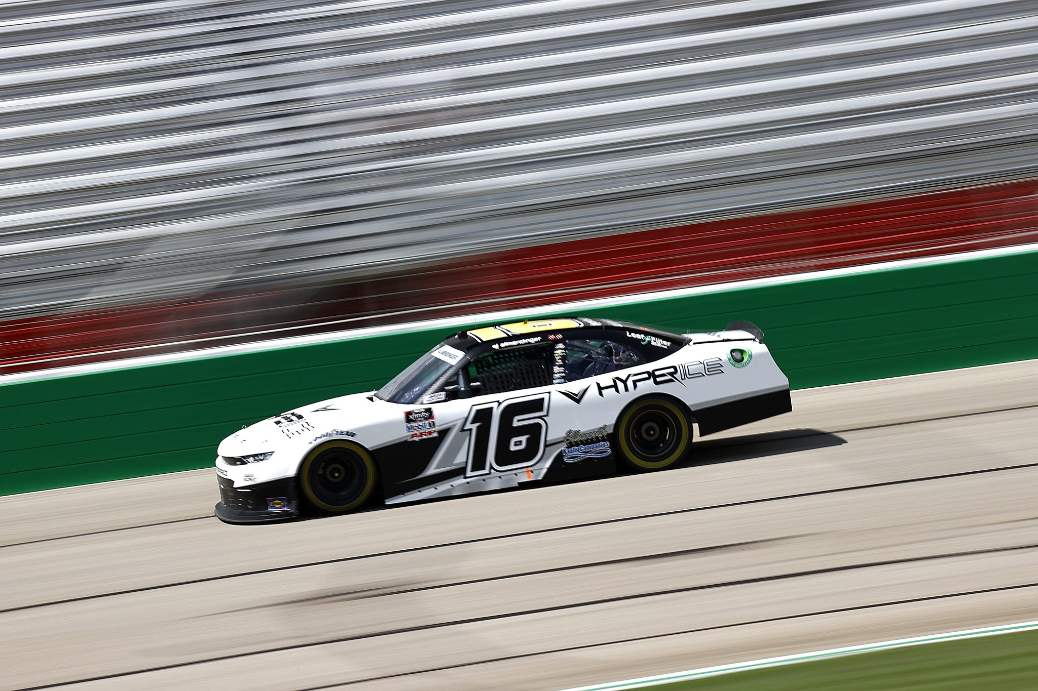 HAMPTON, GEORGIA - JULY 10: AJ Allmendinger, driver of the #16 Hyperice Chevrolet, drives during the NASCAR Xfinity Series Credit Karma Money 250 at Atlanta Motor Speedway on July 10, 2021 in Hampton, Georgia. (Photo by Jared C. Tilton/Getty Images) | Getty Images