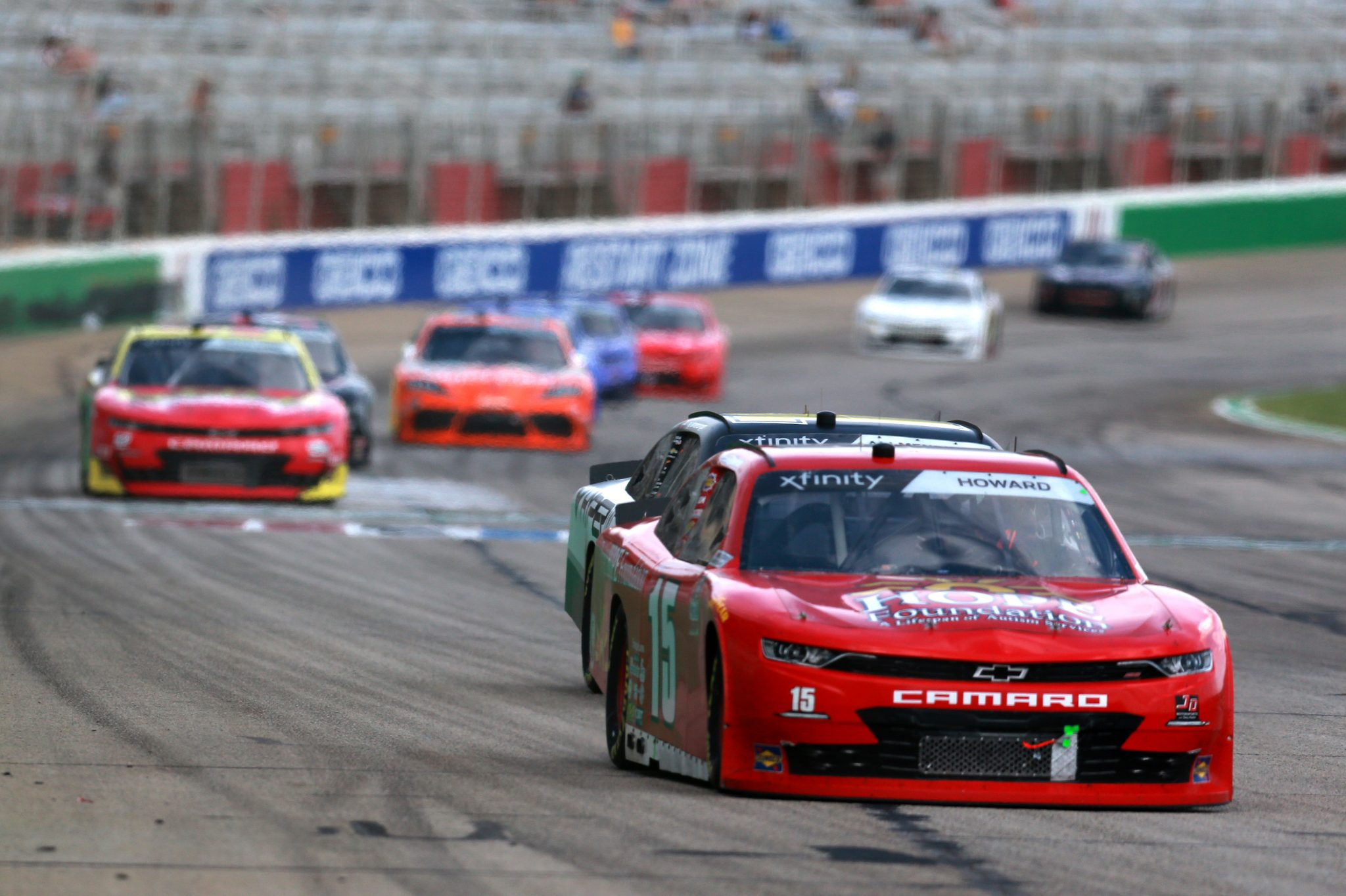 HAMPTON, GEORGIA - JULY 10: Colby Howard, driver of the #15 Project Hope Foundation Chevrolet, drives during the NASCAR Xfinity Series Credit Karma Money 250 at Atlanta Motor Speedway on July 10, 2021 in Hampton, Georgia. (Photo by Sean Gardner/Getty Images)   Getty Images