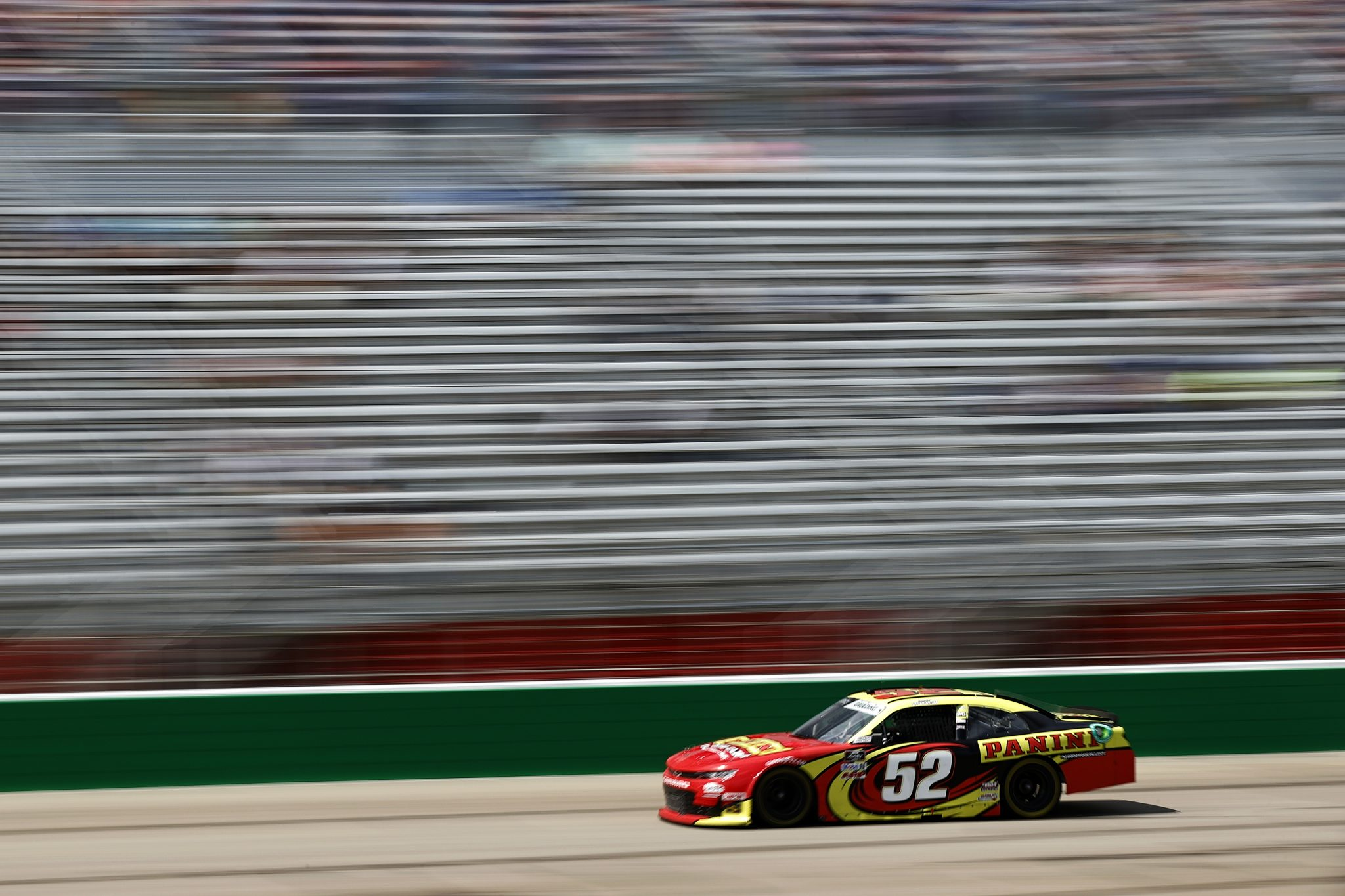HAMPTON, GEORGIA - JULY 10: Gray Gaulding, driver of the #52 Panini America Chevrolet, drives during the NASCAR Xfinity Series Credit Karma Money 250 at Atlanta Motor Speedway on July 10, 2021 in Hampton, Georgia. (Photo by Jared C. Tilton/Getty Images)   Getty Images