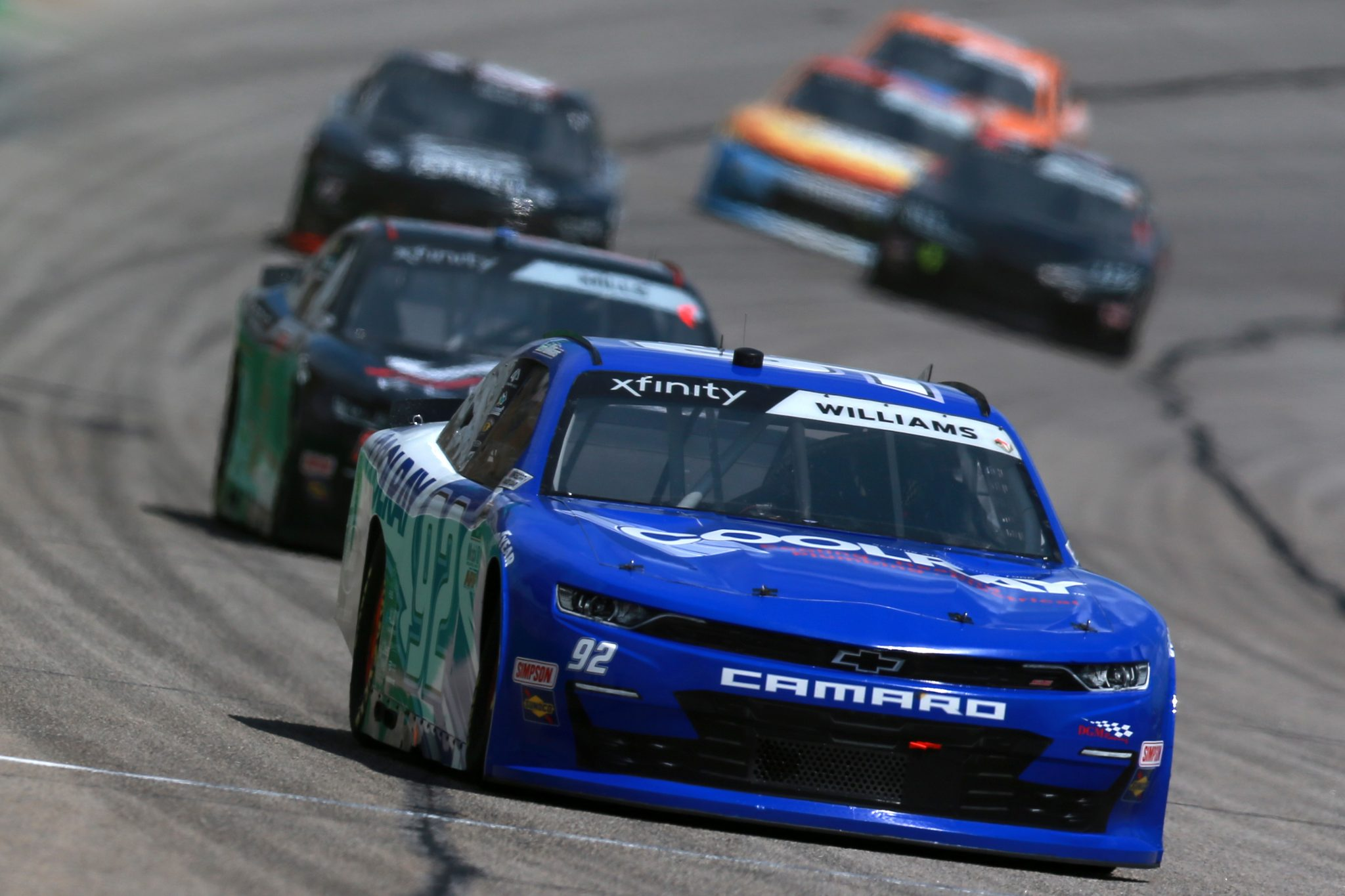 HAMPTON, GEORGIA - JULY 10: Josh Williams, driver of the #92 Cooray Heating & AC Chevrolet, drives during the NASCAR Xfinity Series Credit Karma Money 250 at Atlanta Motor Speedway on July 10, 2021 in Hampton, Georgia. (Photo by Sean Gardner/Getty Images)   Getty Images