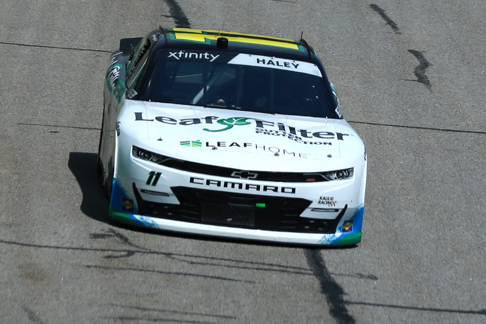HAMPTON, GEORGIA - JULY 10: Austin Dillon, driver of the #1 PFJ Spicy Chicken Sandwich Chevrolet, drives during the NASCAR Xfinity Series Credit Karma Money 250 at Atlanta Motor Speedway on July 10, 2021 in Hampton, Georgia. (Photo by Sean Gardner/Getty Images) | Getty Images