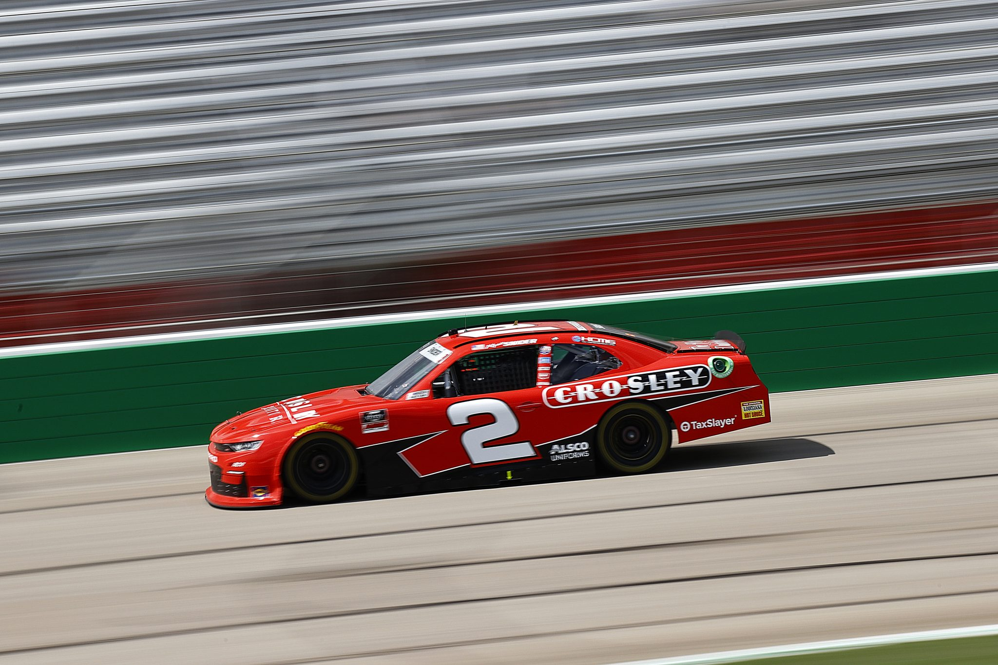 HAMPTON, GEORGIA - JULY 10: Myatt Snider, driver of the #2 Crosley Furniture Chevrolet, drives during the NASCAR Xfinity Series Credit Karma Money 250 at Atlanta Motor Speedway on July 10, 2021 in Hampton, Georgia. (Photo by Jared C. Tilton/Getty Images) | Getty Images