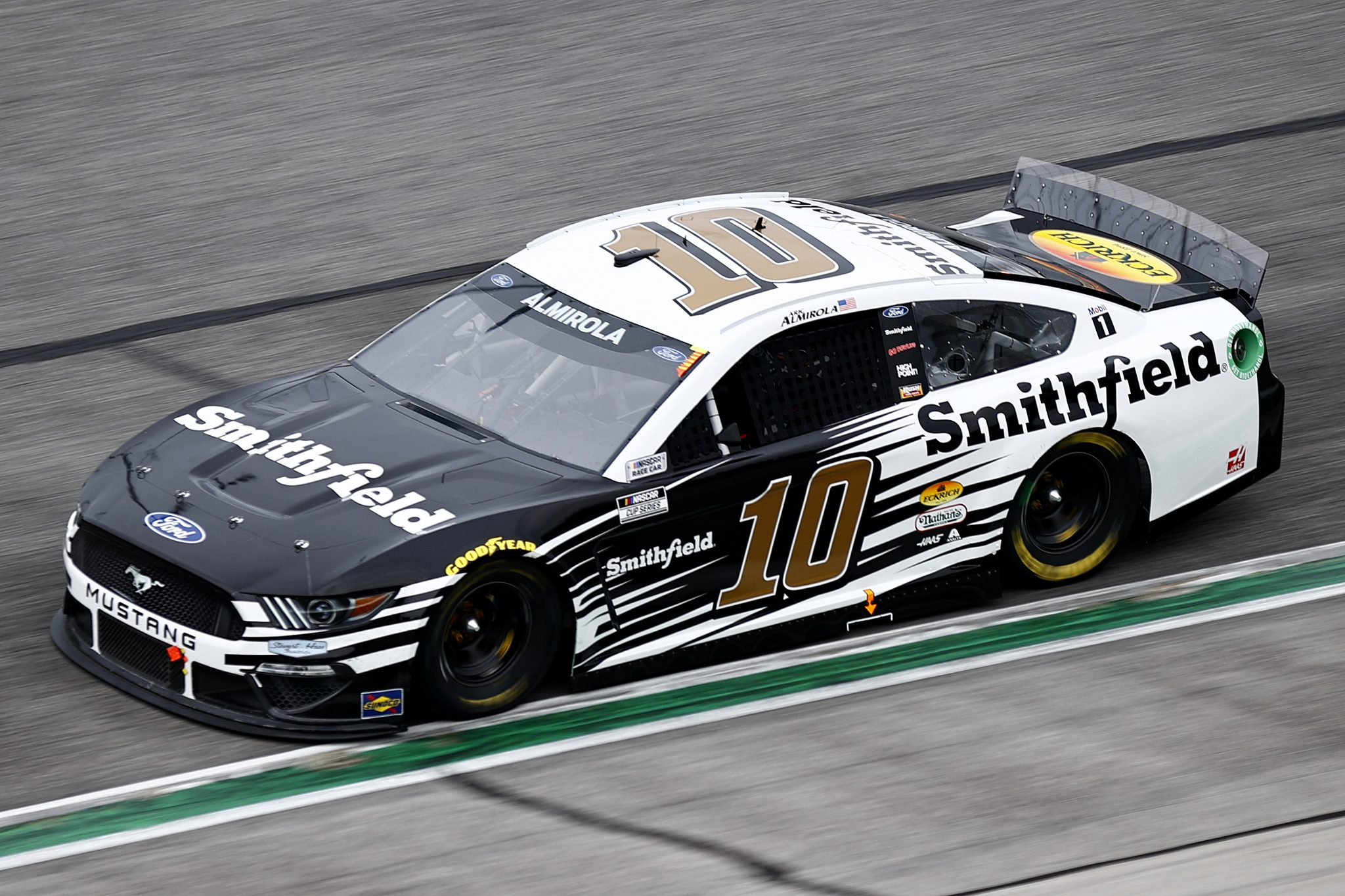 HAMPTON, GEORGIA - JULY 11: Aric Almirola, driver of the #10 Smithfield Ford, drives during the NASCAR Cup Series Quaker State 400 presented by Walmart at Atlanta Motor Speedway on July 11, 2021 in Hampton, Georgia. (Photo by Jared C. Tilton/Getty Images)   Getty Images