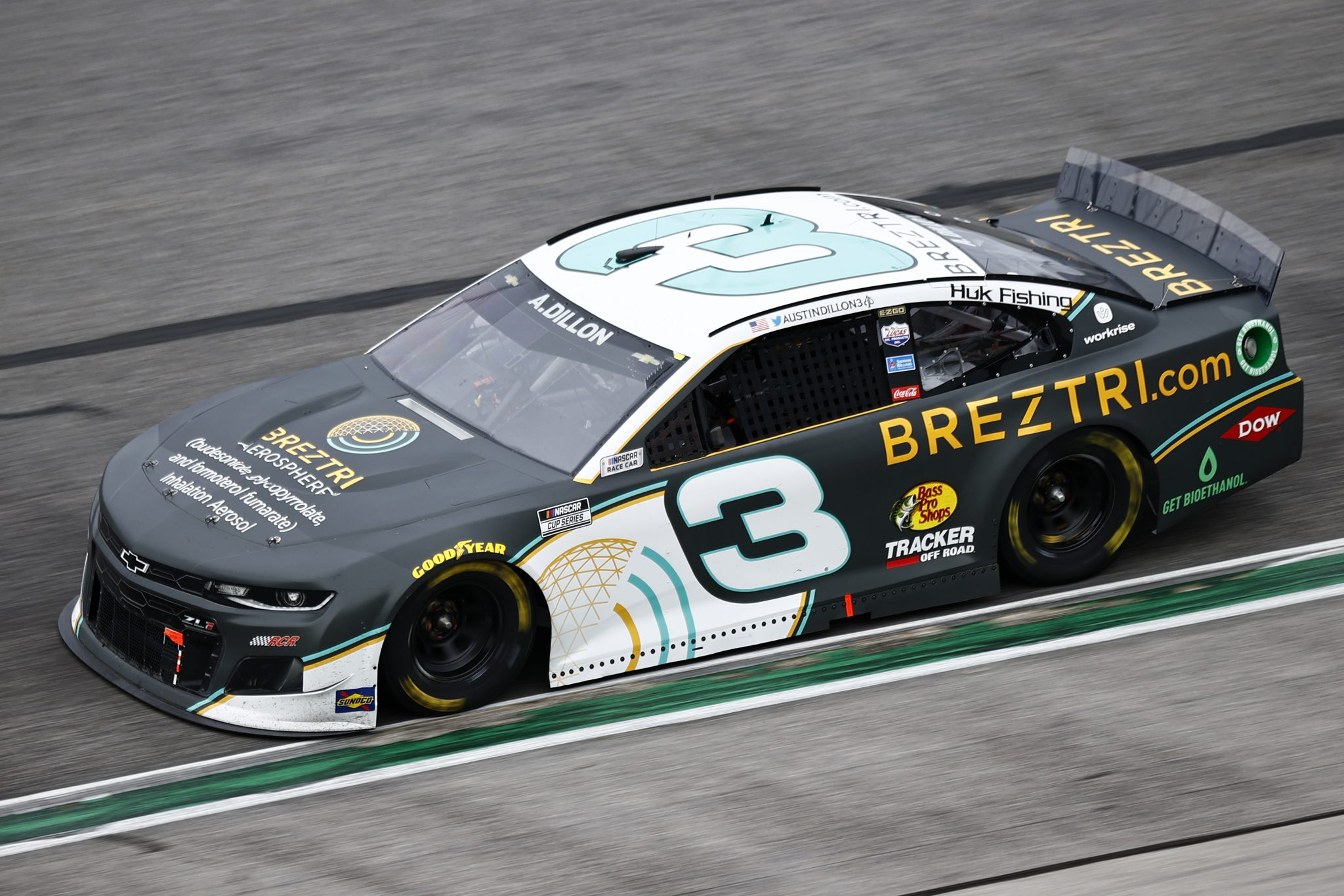 HAMPTON, GEORGIA - JULY 11: Austin Dillon, driver of the #3 BREZTRI Chevrolet, drives during the NASCAR Cup Series Quaker State 400 presented by Walmart at Atlanta Motor Speedway on July 11, 2021 in Hampton, Georgia. (Photo by Jared C. Tilton/Getty Images)   Getty Images