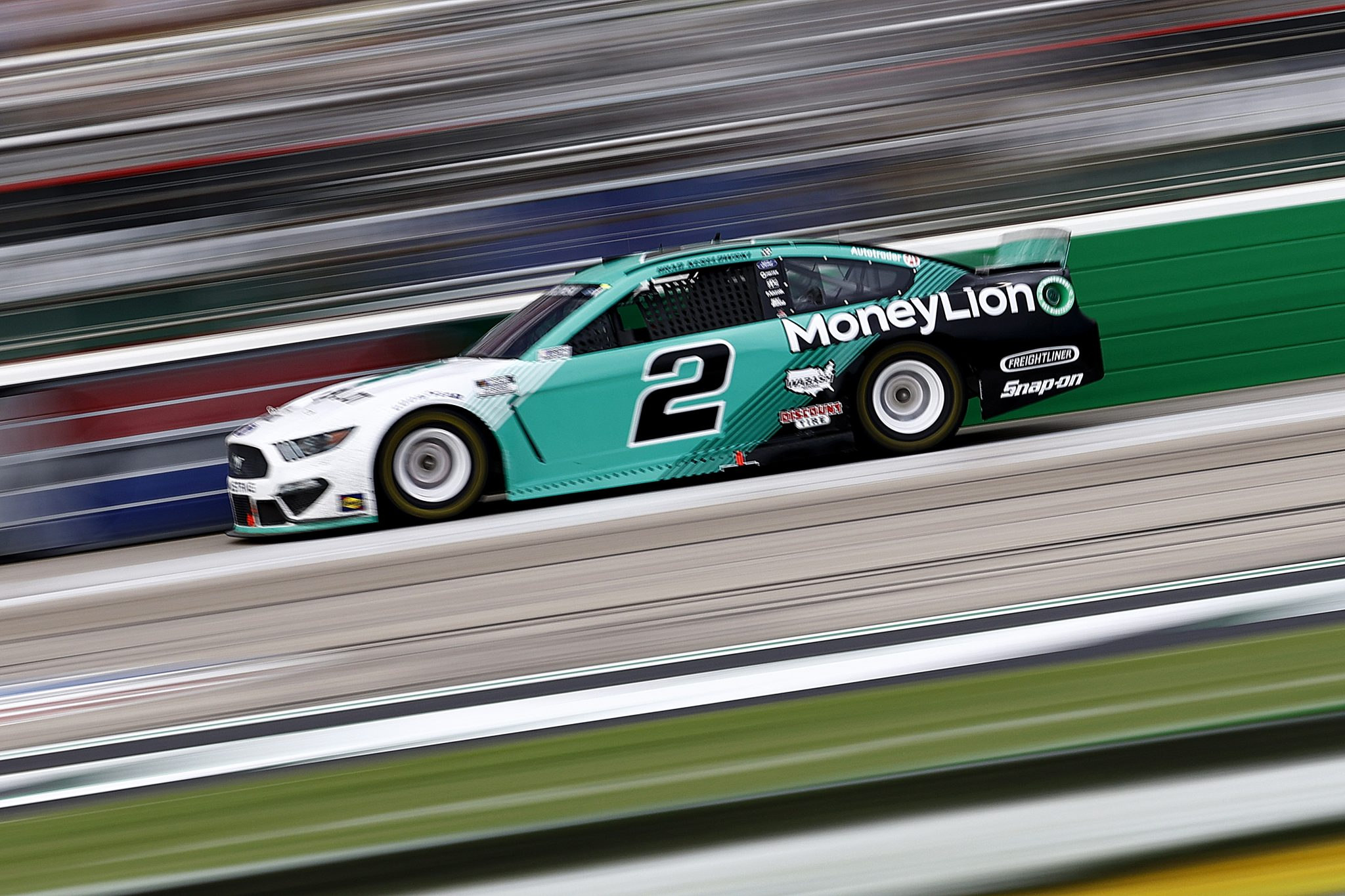 HAMPTON, GEORGIA - JULY 11: Brad Keselowski, driver of the #2 MoneyLion Ford, drives during the NASCAR Cup Series Quaker State 400 presented by Walmart at Atlanta Motor Speedway on July 11, 2021 in Hampton, Georgia. (Photo by Jared C. Tilton/Getty Images)   Getty Images