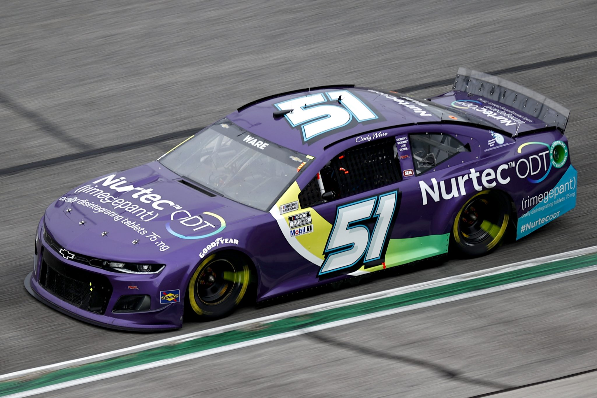 HAMPTON, GEORGIA - JULY 11: Cody Ware, driver of the #51 Nurtec ODT Chevrolet, drives during the NASCAR Cup Series Quaker State 400 presented by Walmart at Atlanta Motor Speedway on July 11, 2021 in Hampton, Georgia. (Photo by Jared C. Tilton/Getty Images) | Getty Images