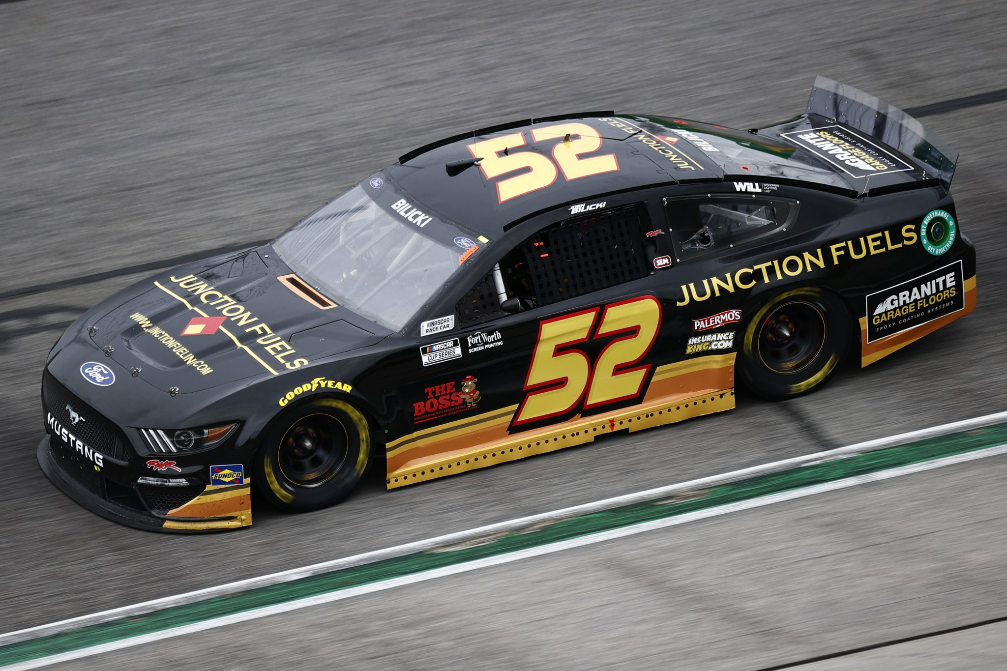 HAMPTON, GEORGIA - JULY 11: Josh Bilicki, driver of the #52 Junction Fuels Ford, drives during the NASCAR Cup Series Quaker State 400 presented by Walmart at Atlanta Motor Speedway on July 11, 2021 in Hampton, Georgia. (Photo by Jared C. Tilton/Getty Images)   Getty Images