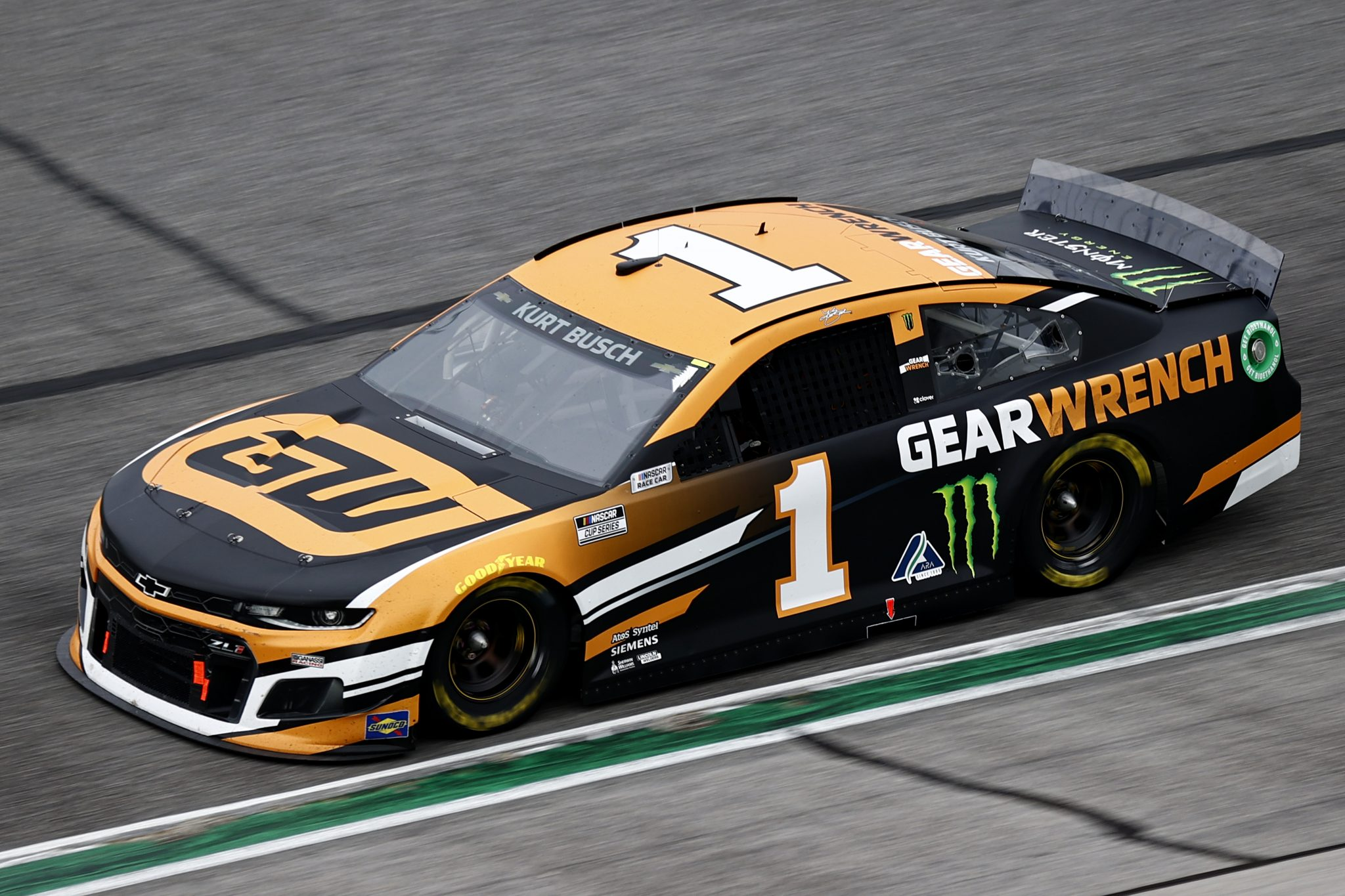 HAMPTON, GEORGIA - JULY 11: Kurt Busch, driver of the #1 GEARWRENCH Chevrolet, drives during the NASCAR Cup Series Quaker State 400 presented by Walmart at Atlanta Motor Speedway on July 11, 2021 in Hampton, Georgia. (Photo by Jared C. Tilton/Getty Images)   Getty Images