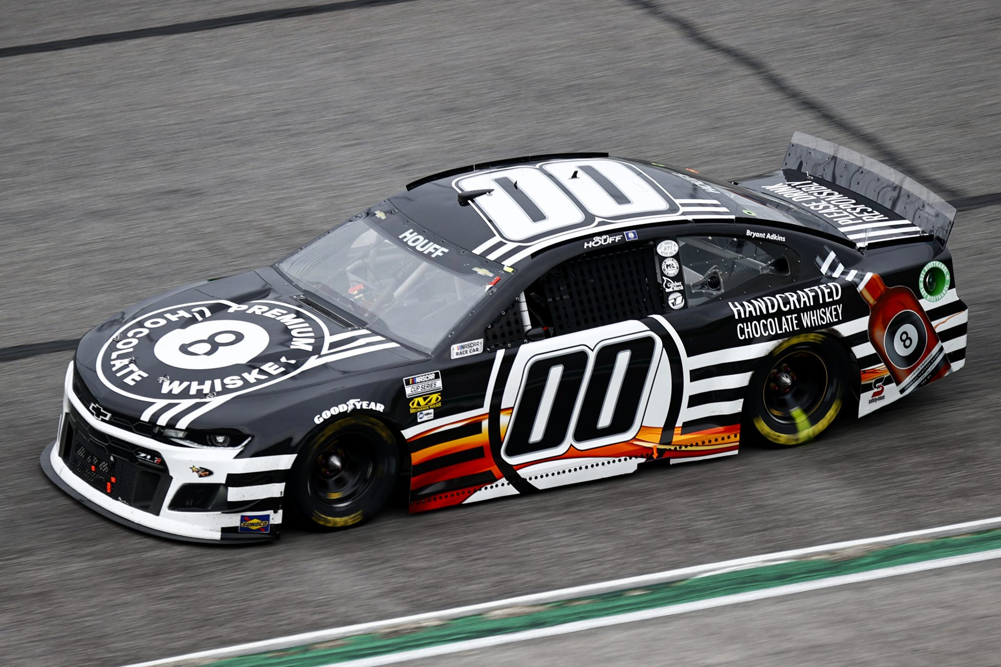 HAMPTON, GEORGIA - JULY 11: Quin Houff, driver of the #00 8 Ball Chocolate Whiskey Chevrolet, drives during the NASCAR Cup Series Quaker State 400 presented by Walmart at Atlanta Motor Speedway on July 11, 2021 in Hampton, Georgia. (Photo by Jared C. Tilton/Getty Images)   Getty Images