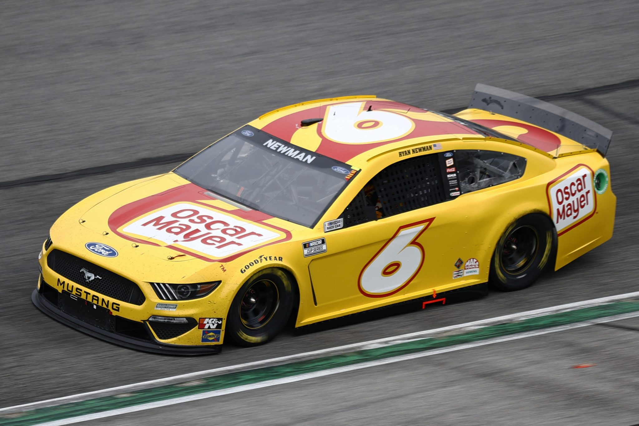 HAMPTON, GEORGIA - JULY 11: Ryan Newman, driver of the #6 Oscar Mayer Ford, drives during the NASCAR Cup Series Quaker State 400 presented by Walmart at Atlanta Motor Speedway on July 11, 2021 in Hampton, Georgia. (Photo by Jared C. Tilton/Getty Images) | Getty Images