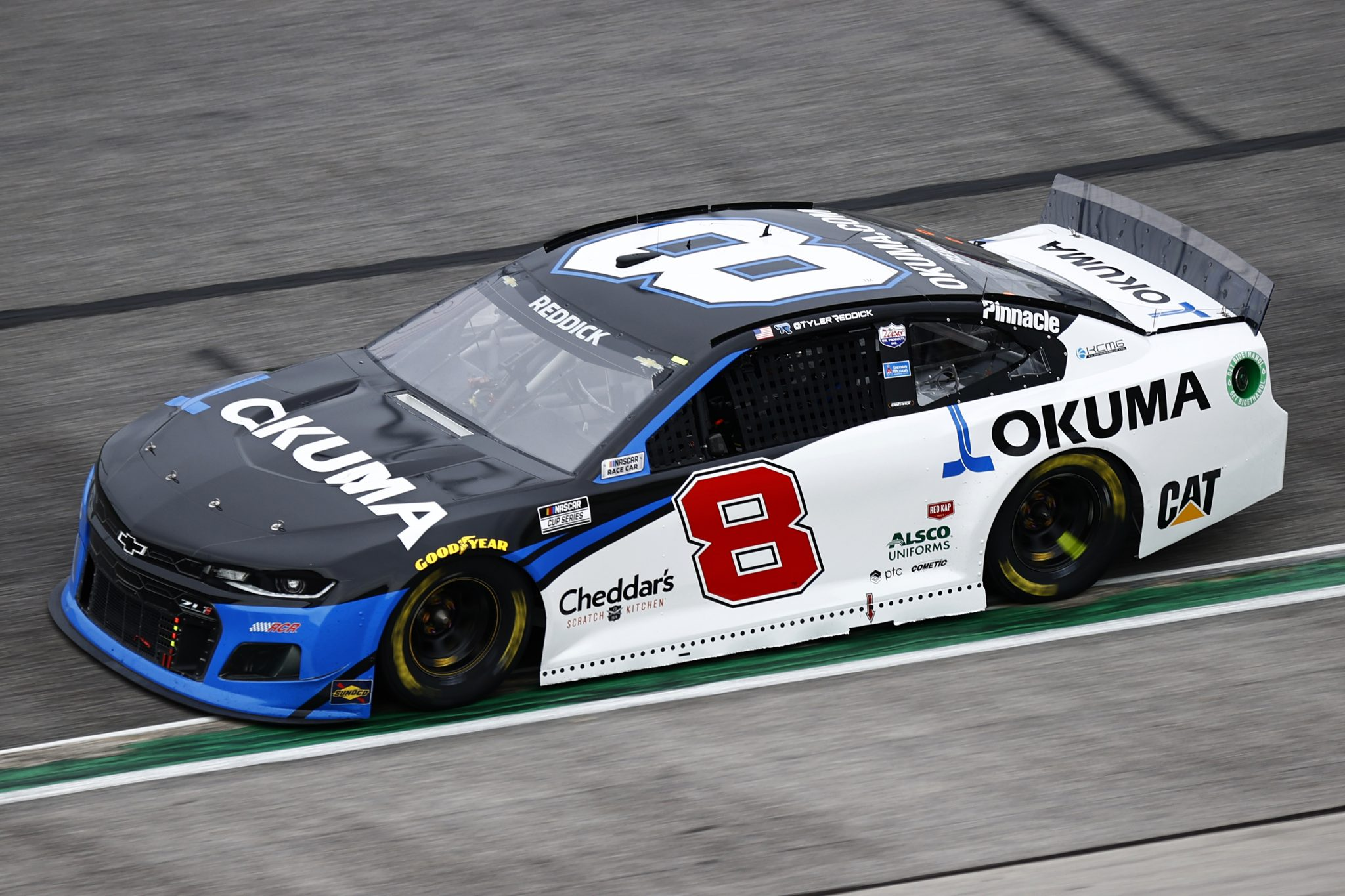 HAMPTON, GEORGIA - JULY 11: Tyler Reddick, driver of the #8 Okuma Chevrolet, drives during the NASCAR Cup Series Quaker State 400 presented by Walmart at Atlanta Motor Speedway on July 11, 2021 in Hampton, Georgia. (Photo by Jared C. Tilton/Getty Images)   Getty Images