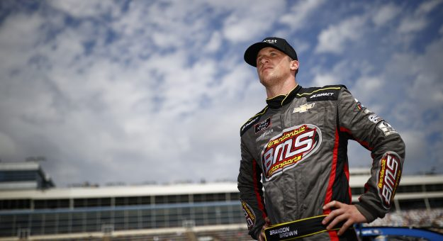 CONCORD, NORTH CAROLINA - MAY 29: Brandon Brown, driver of the #68 Brandonbilt Foundations Chevrolet, waits on the grid during qualifying for the NASCAR Xfinity Series Alsco Uniforms at Charlotte Motor Speedway on May 29, 2021 in Concord, North Carolina. (Photo by Jared C. Tilton/Getty Images)   Getty Images