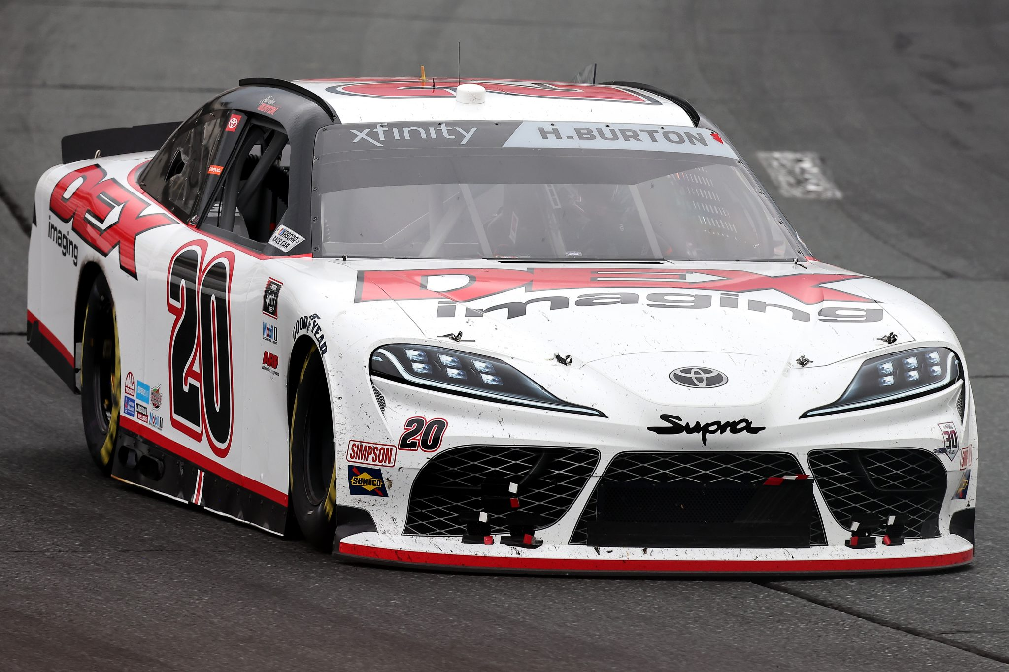 LOUDON, NEW HAMPSHIRE - JULY 17: Harrison Burton, driver of the #20 DEX Imaging Toyota, drives during the NASCAR Xfinity Series Ambetter Get Vaccinated 200 at New Hampshire Motor Speedway on July 17, 2021 in Loudon, New Hampshire. (Photo by James Gilbert/Getty Images) | Getty Images