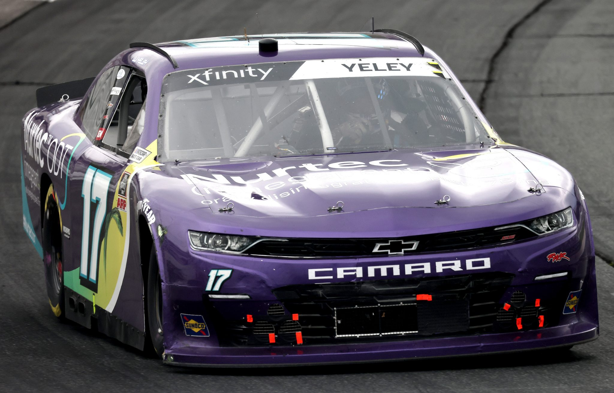 LOUDON, NEW HAMPSHIRE - JULY 17: JJ Yeley, driver of the #17 Nurtec ODT Chevrolet, drives during the NASCAR Xfinity Series Ambetter Get Vaccinated 200 at New Hampshire Motor Speedway on July 17, 2021 in Loudon, New Hampshire. (Photo by James Gilbert/Getty Images)   Getty Images