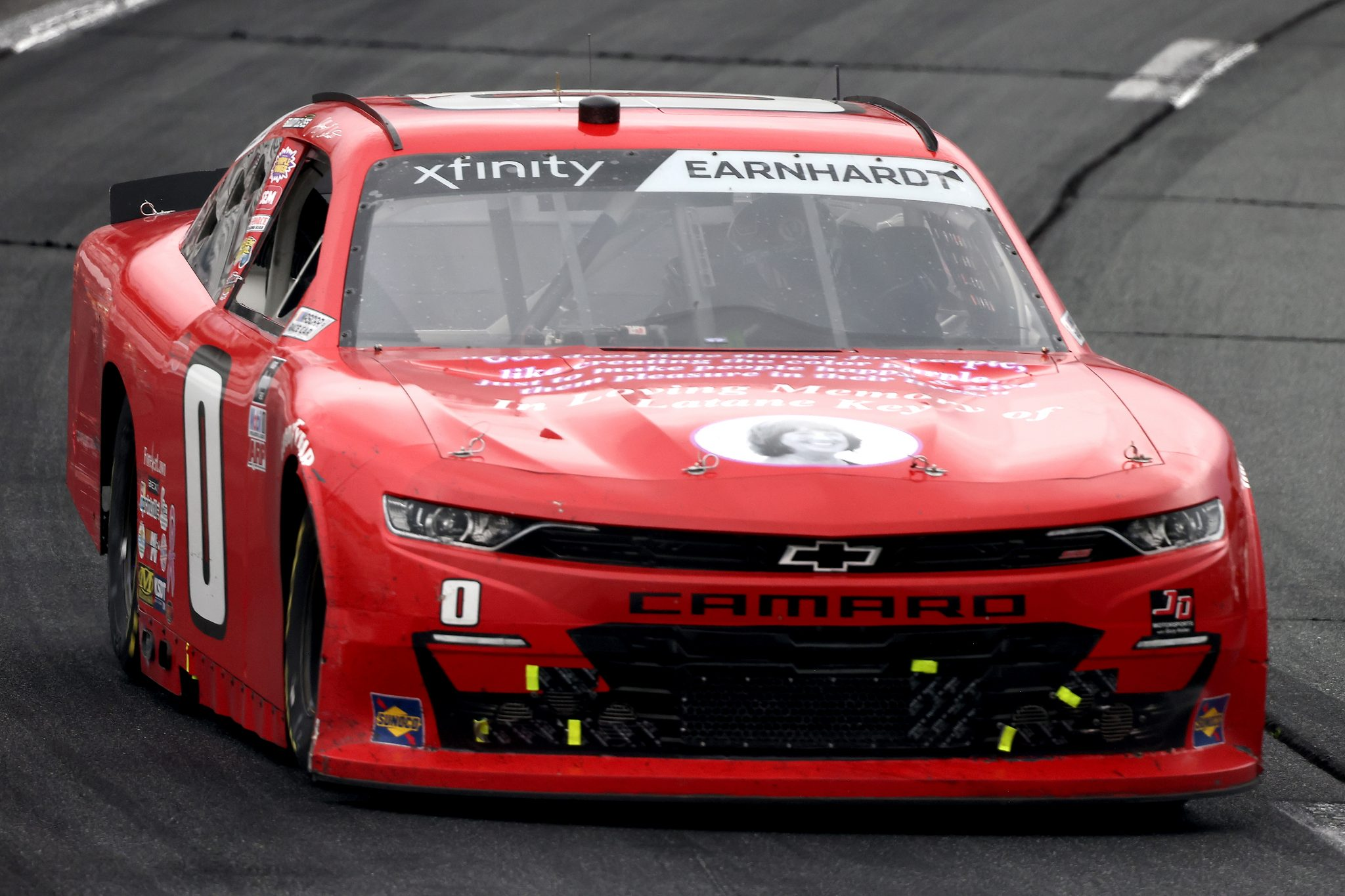 LOUDON, NEW HAMPSHIRE - JULY 17: Jeffrey Earnhardt, driver of the #0 In Memory of Latane Key Chevrolet, drives during the NASCAR Xfinity Series Ambetter Get Vaccinated 200 at New Hampshire Motor Speedway on July 17, 2021 in Loudon, New Hampshire. (Photo by James Gilbert/Getty Images) | Getty Images