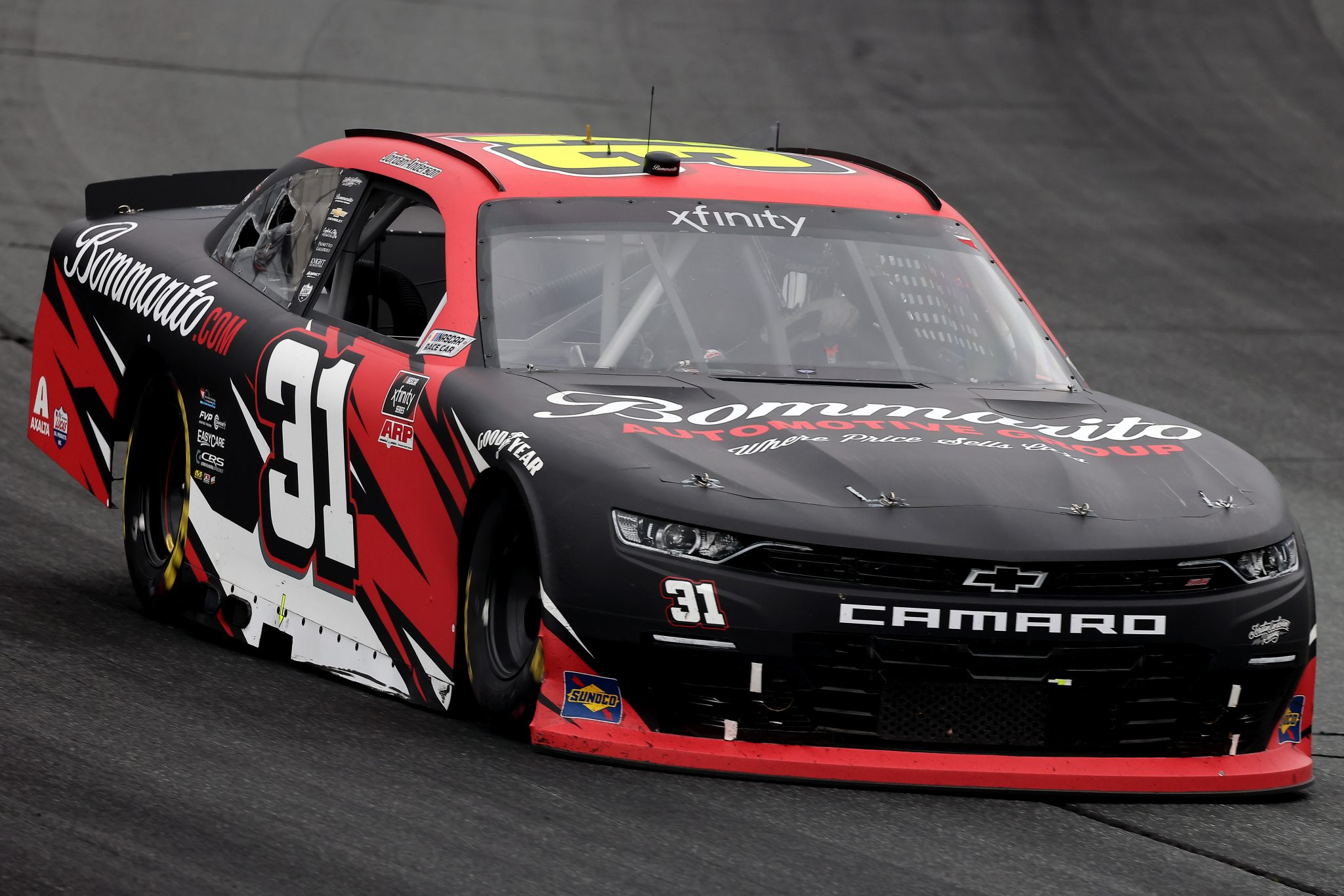 LOUDON, NEW HAMPSHIRE - JULY 17: Jordan Anderson, driver of the #31 Bommarito.com Chevrolet, drives during the NASCAR Xfinity Series Ambetter Get Vaccinated 200 at New Hampshire Motor Speedway on July 17, 2021 in Loudon, New Hampshire. (Photo by James Gilbert/Getty Images) | Getty Images
