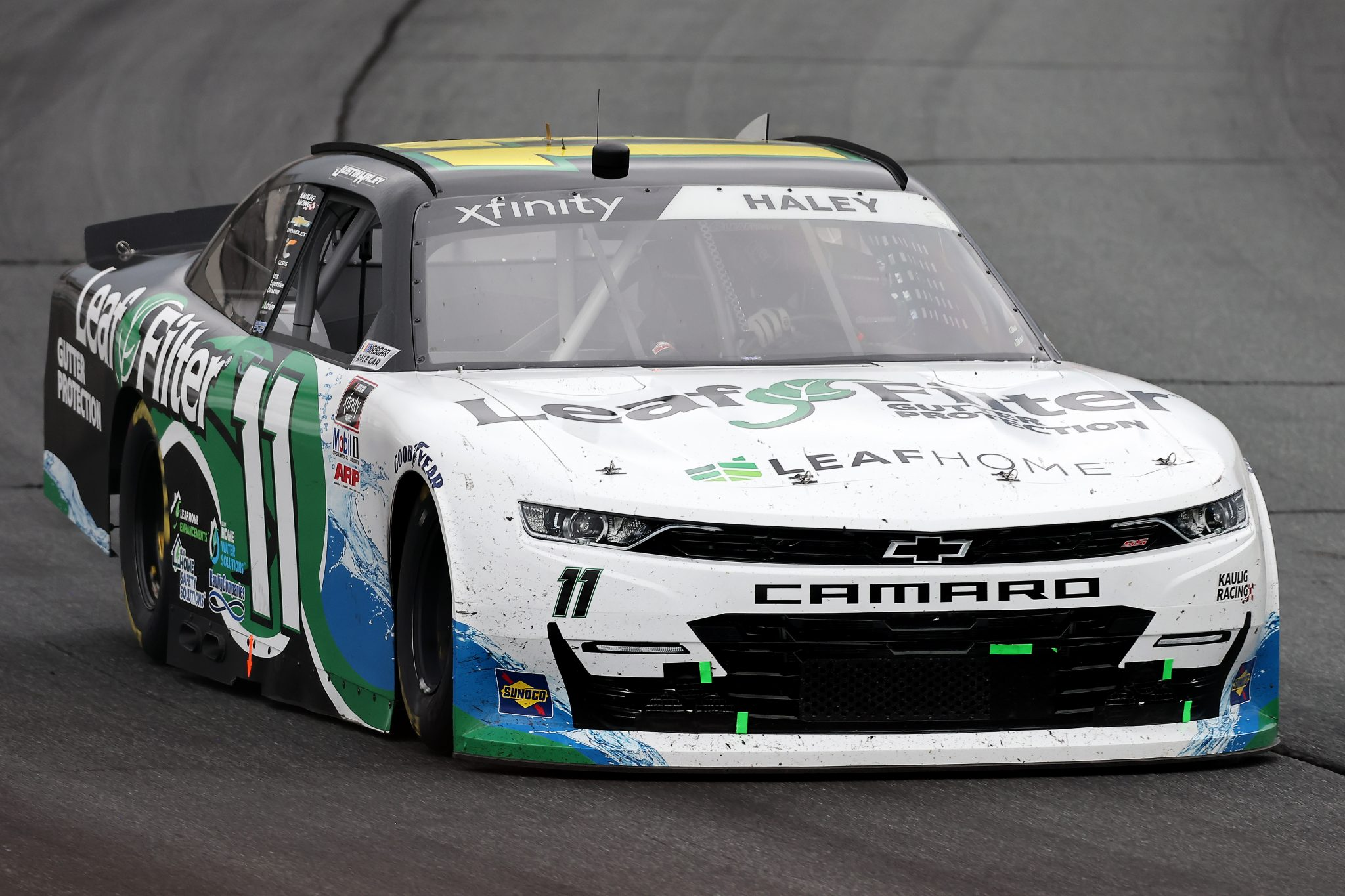 LOUDON, NEW HAMPSHIRE - JULY 17: Justin Haley, driver of the #11 LeafFilter Gutter Protection Chevrolet, drives during the NASCAR Xfinity Series Ambetter Get Vaccinated 200 at New Hampshire Motor Speedway on July 17, 2021 in Loudon, New Hampshire. (Photo by James Gilbert/Getty Images) | Getty Images