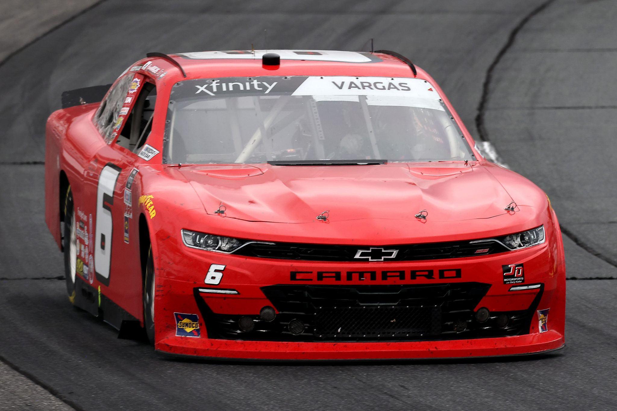 LOUDON, NEW HAMPSHIRE - JULY 17: Ryan Vargas, driver of the #6 TeamJD Motorsports.com Chevrolet, drives during the NASCAR Xfinity Series Ambetter Get Vaccinated 200 at New Hampshire Motor Speedway on July 17, 2021 in Loudon, New Hampshire. (Photo by James Gilbert/Getty Images) | Getty Images