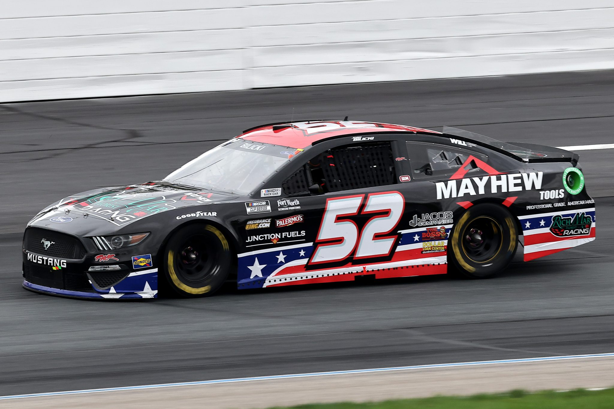 LOUDON, NEW HAMPSHIRE - JULY 18: Josh Bilicki, driver of the #52 Ford, drives during the NASCAR Cup Series Foxwoods Resort Casino 301 at New Hampshire Motor Speedway on July 18, 2021 in Loudon, New Hampshire. (Photo by James Gilbert/Getty Images)   Getty Images