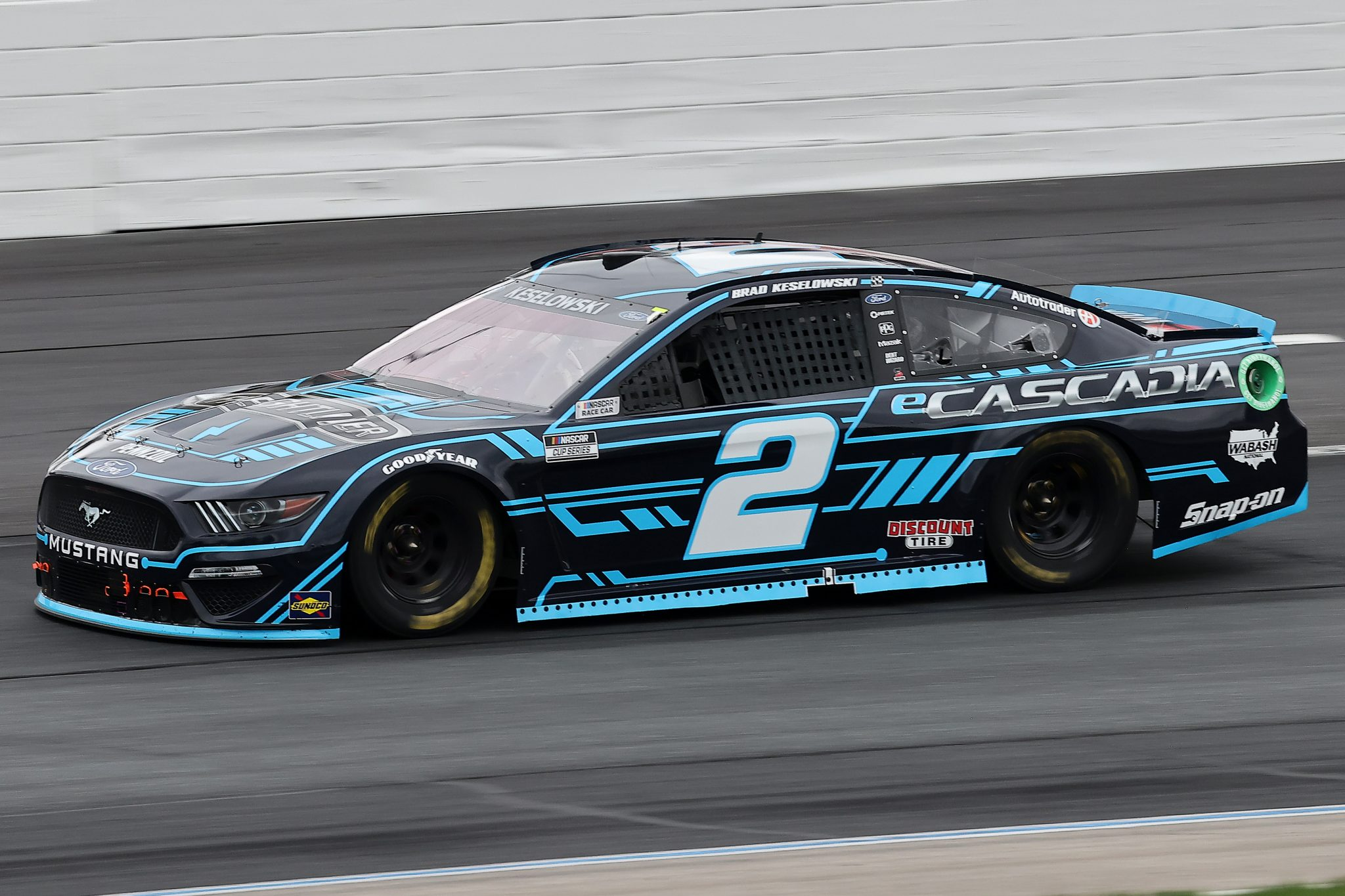 LOUDON, NEW HAMPSHIRE - JULY 18: Brad Keselowski, driver of the #2 eCascadia Ford, drives during the NASCAR Cup Series Foxwoods Resort Casino 301 at New Hampshire Motor Speedway on July 18, 2021 in Loudon, New Hampshire. (Photo by James Gilbert/Getty Images)   Getty Images