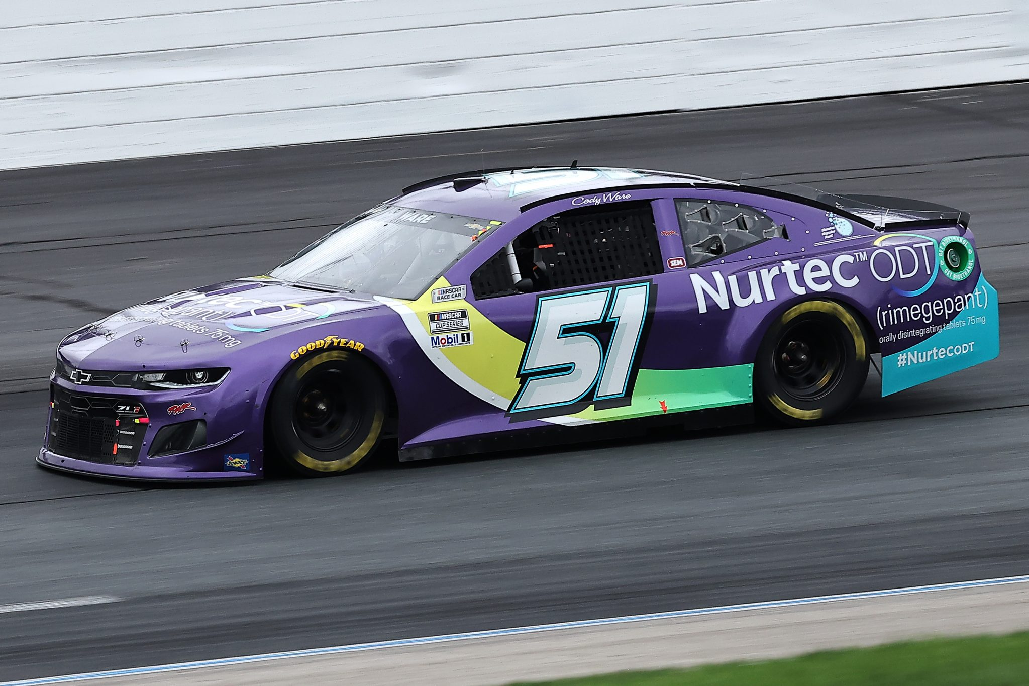 LOUDON, NEW HAMPSHIRE - JULY 18: Cody Ware, driver of the #51 Nurtec ODT Chevrolet, drives during the NASCAR Cup Series Foxwoods Resort Casino 301 at New Hampshire Motor Speedway on July 18, 2021 in Loudon, New Hampshire. (Photo by James Gilbert/Getty Images) | Getty Images