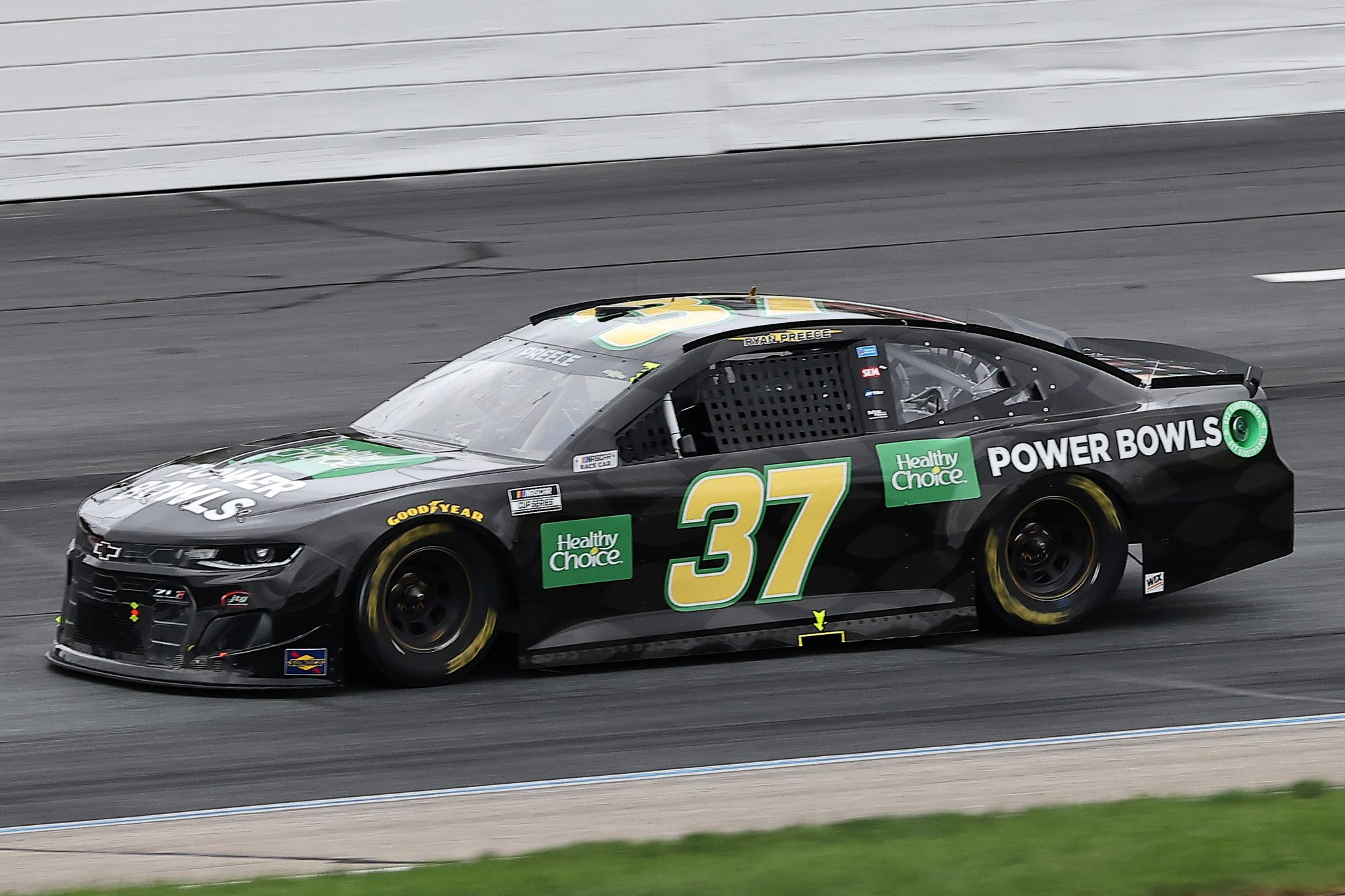 LOUDON, NEW HAMPSHIRE - JULY 18: Ryan Preece, driver of the #37 Healthy Choice Power Bowls Chevrolet, drives during the NASCAR Cup Series Foxwoods Resort Casino 301 at New Hampshire Motor Speedway on July 18, 2021 in Loudon, New Hampshire. (Photo by James Gilbert/Getty Images) | Getty Images