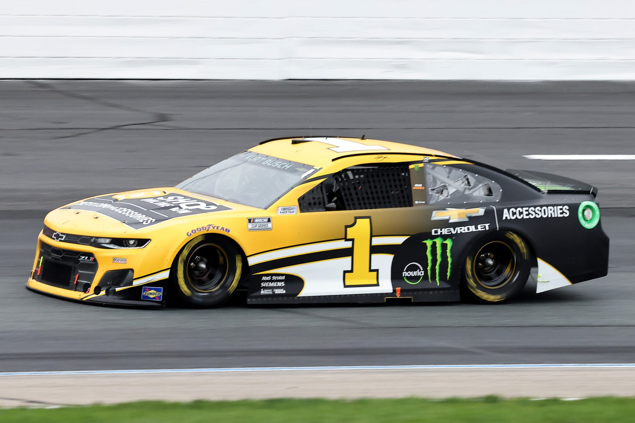 LOUDON, NEW HAMPSHIRE - JULY 18: Kurt Busch, driver of the #1 Chevy Accessories Chevrolet, drives during the NASCAR Cup Series Foxwoods Resort Casino 301 at New Hampshire Motor Speedway on July 18, 2021 in Loudon, New Hampshire. (Photo by James Gilbert/Getty Images) | Getty Images