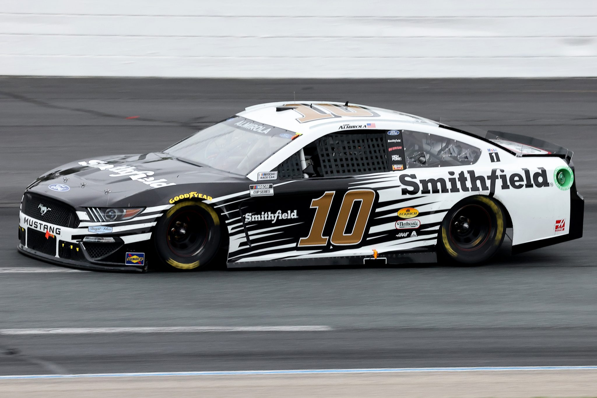 LOUDON, NEW HAMPSHIRE - JULY 18: Aric Almirola, driver of the #10 Smithfield Ford, drives during the NASCAR Cup Series Foxwoods Resort Casino 301 at New Hampshire Motor Speedway on July 18, 2021 in Loudon, New Hampshire. (Photo by James Gilbert/Getty Images)   Getty Images