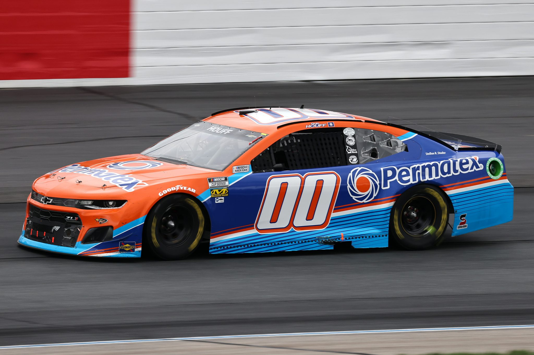 LOUDON, NEW HAMPSHIRE - JULY 18: Quin Houff, driver of the #00 Permatex Chevrolet, drives during the NASCAR Cup Series Foxwoods Resort Casino 301 at New Hampshire Motor Speedway on July 18, 2021 in Loudon, New Hampshire. (Photo by James Gilbert/Getty Images)   Getty Images
