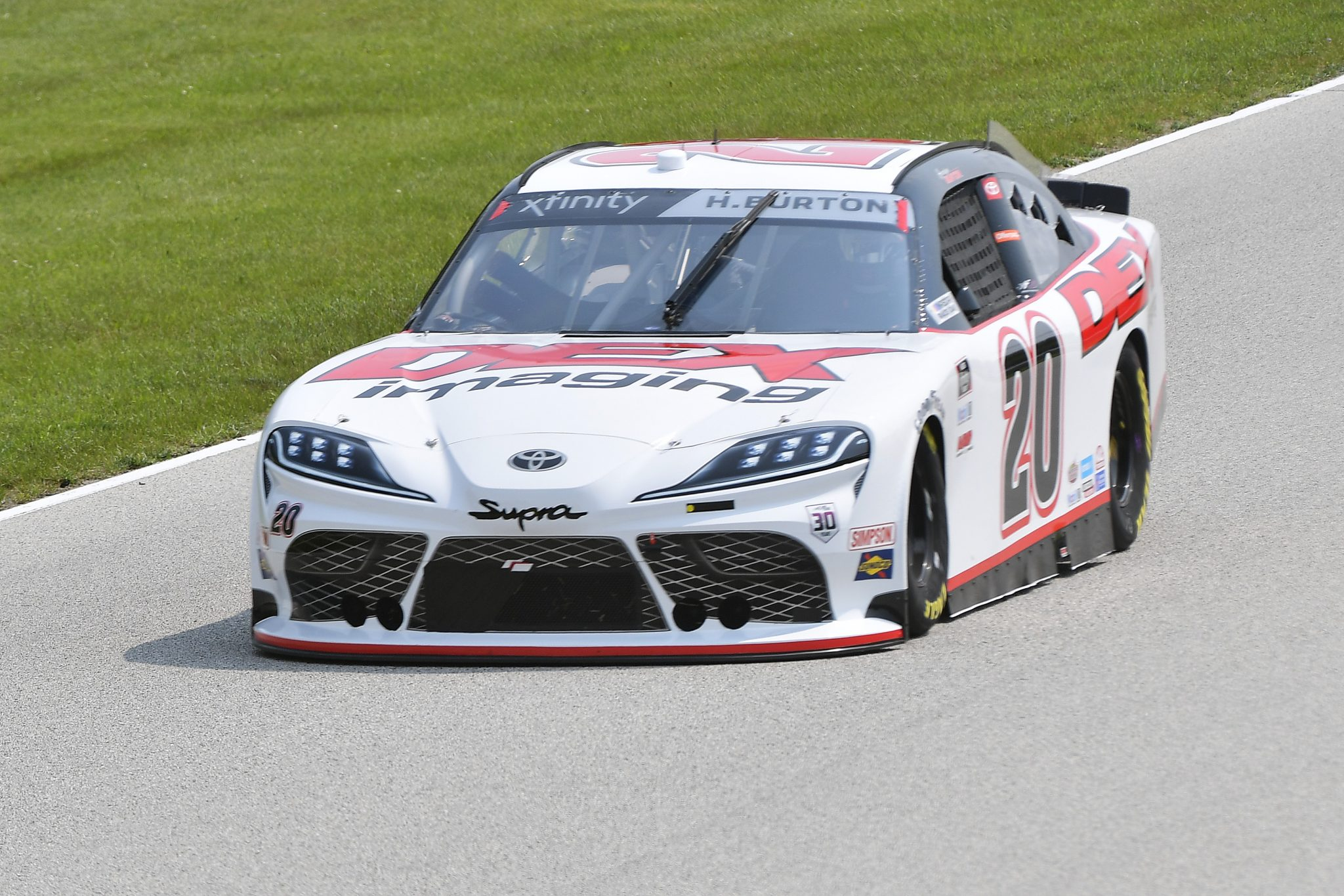 ELKHART LAKE, WISCONSIN - JULY 02: Harrison Burton, driver of the #20 DEX Imaging Toyota, drives during practice for the NASCAR Xfinity Series Henry 180 at Road America on July 02, 2021 in Elkhart Lake, Wisconsin. (Photo by Logan Riely/Getty Images) | Getty Images