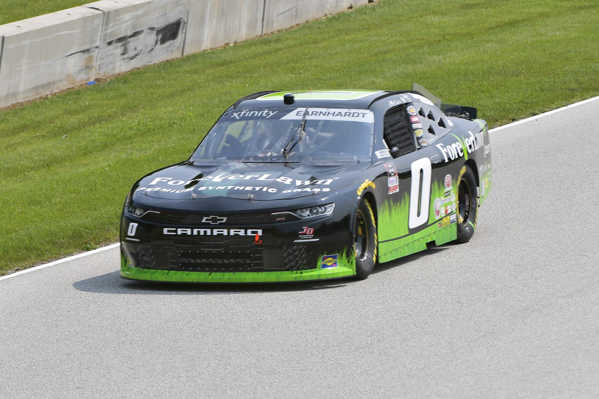ELKHART LAKE, WISCONSIN - JULY 02: Jeffrey Earnhardt, driver of the #0 ForeverLawn Chevrolet, drives during practice for the NASCAR Xfinity Series Henry 180 at Road America on July 02, 2021 in Elkhart Lake, Wisconsin. (Photo by Logan Riely/Getty Images) | Getty Images