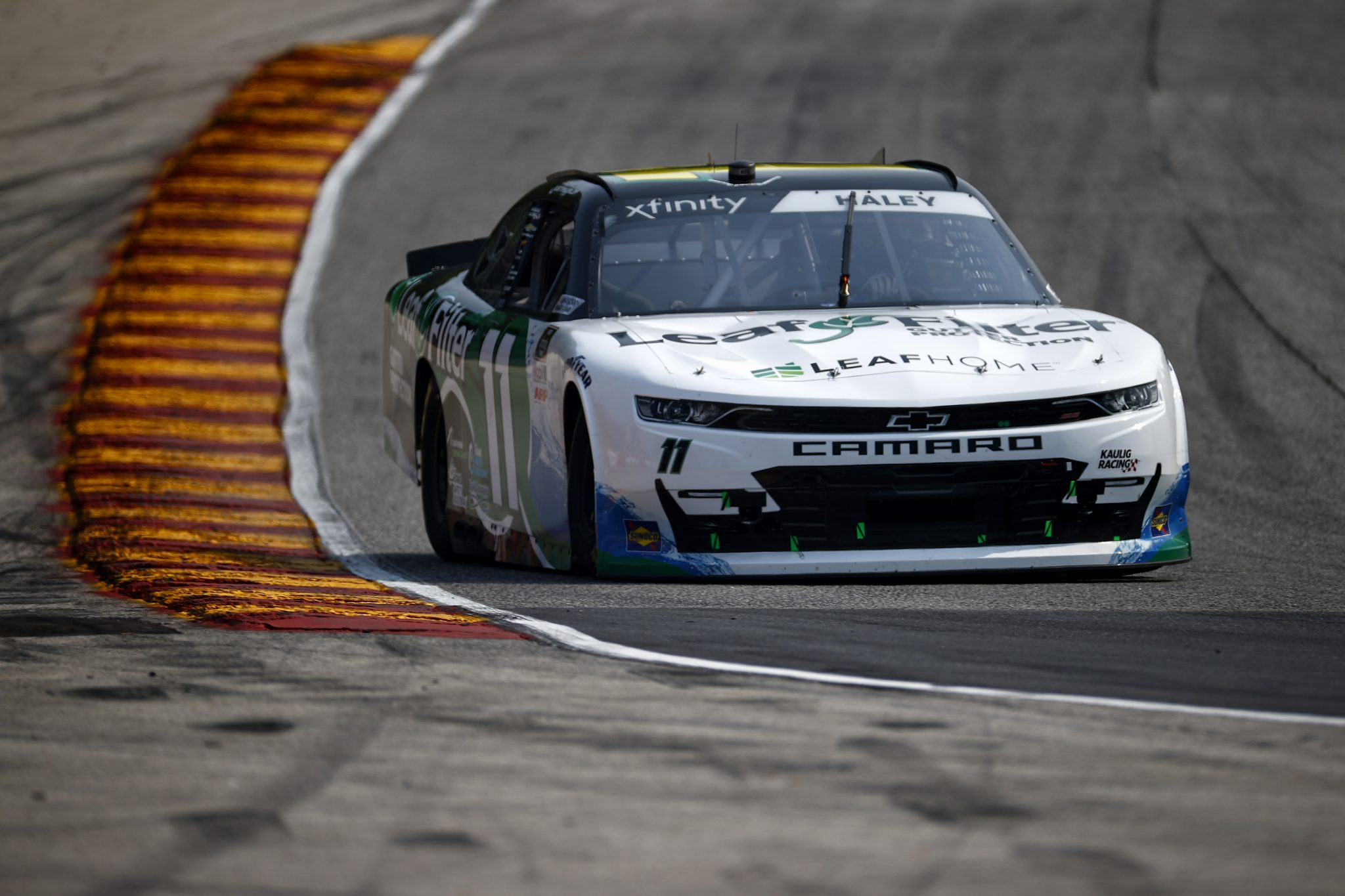 ELKHART LAKE, WISCONSIN - JULY 02: Justin Haley, driver of the #11 LeafFilter Gutter Protection Chevrolet, drives during practice for the NASCAR Xfinity Series Henry 180 at Road America on July 02, 2021 in Elkhart Lake, Wisconsin. (Photo by Jared C. Tilton/Getty Images) | Getty Images
