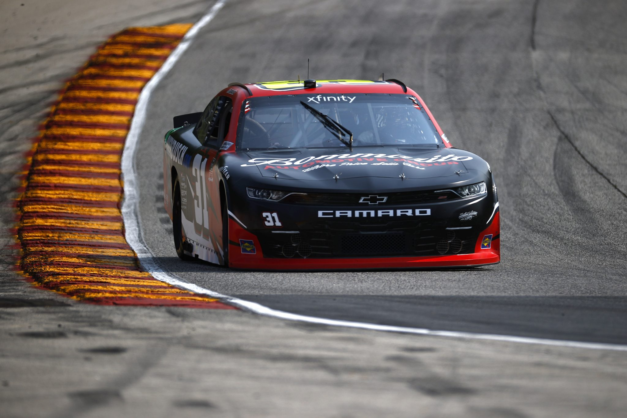 ELKHART LAKE, WISCONSIN - JULY 02: Kaz Grala, driver of the #31 Ruedebusch.com Chevrolet, drives during practice for the NASCAR Xfinity Series Henry 180 at Road America on July 02, 2021 in Elkhart Lake, Wisconsin. (Photo by Jared C. Tilton/Getty Images) | Getty Images