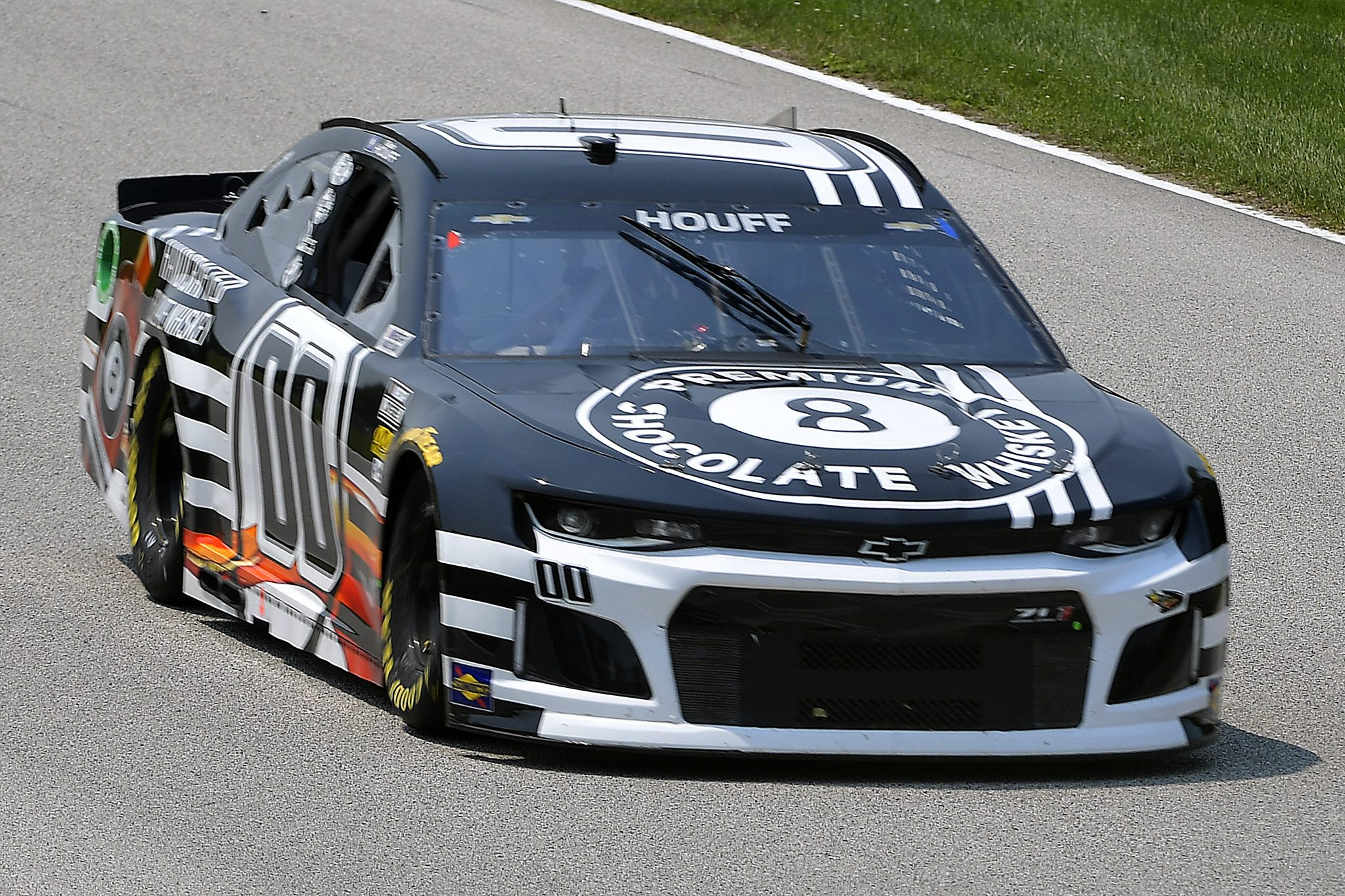 ELKHART LAKE, WISCONSIN - JULY 03: Quin Houff, driver of the #00 8 Ball Chocolate Whiskey Chevrolet, drives during practice for the NASCAR Cup Series Jockey Made in America 250 Presented by Kwik Trip at Road America on July 03, 2021 in Elkhart Lake, Wisconsin. (Photo by Logan Riely/Getty Images)   Getty Images