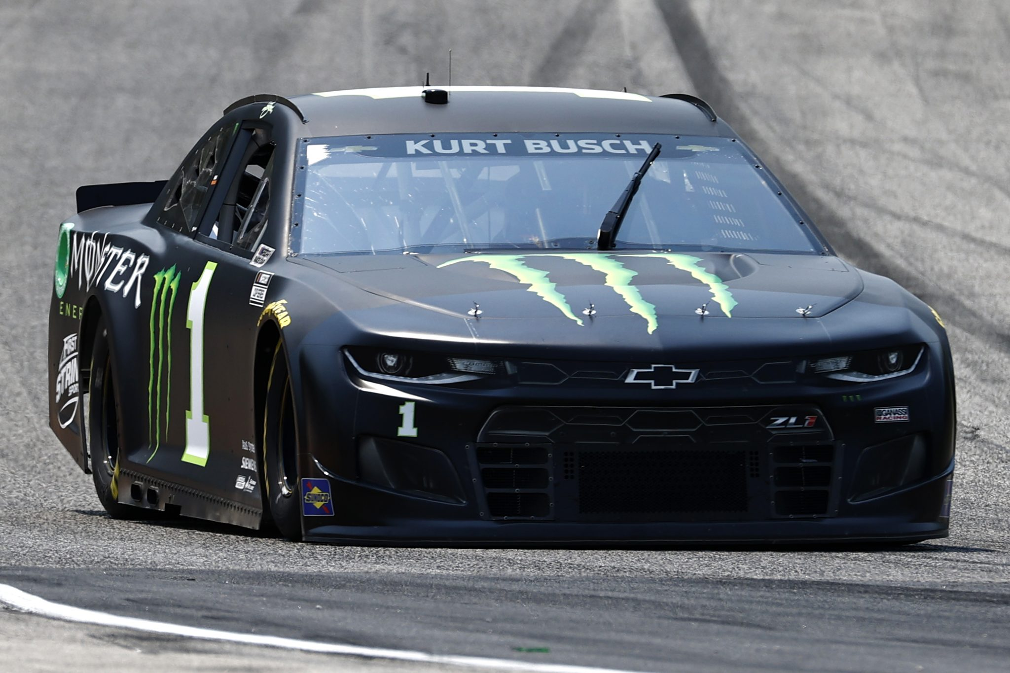 ELKHART LAKE, WISCONSIN - JULY 03: Kurt Busch, driver of the #1 Monster Energy Chevrolet, drives during practice for the NASCAR Cup Series Jockey Made in America 250 Presented by Kwik Trip at Road America on July 03, 2021 in Elkhart Lake, Wisconsin. (Photo by Jared C. Tilton/Getty Images) | Getty Images