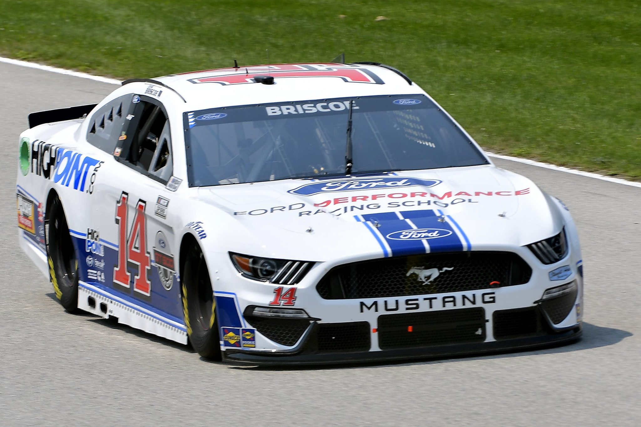 ELKHART LAKE, WISCONSIN - JULY 03: Chase Briscoe, driver of the #14 FordPerformanceRacingSchool/HighPoint Ford, drives during practice for the NASCAR Cup Series Jockey Made in America 250 Presented by Kwik Trip at Road America on July 03, 2021 in Elkhart Lake, Wisconsin. (Photo by Logan Riely/Getty Images)   Getty Images