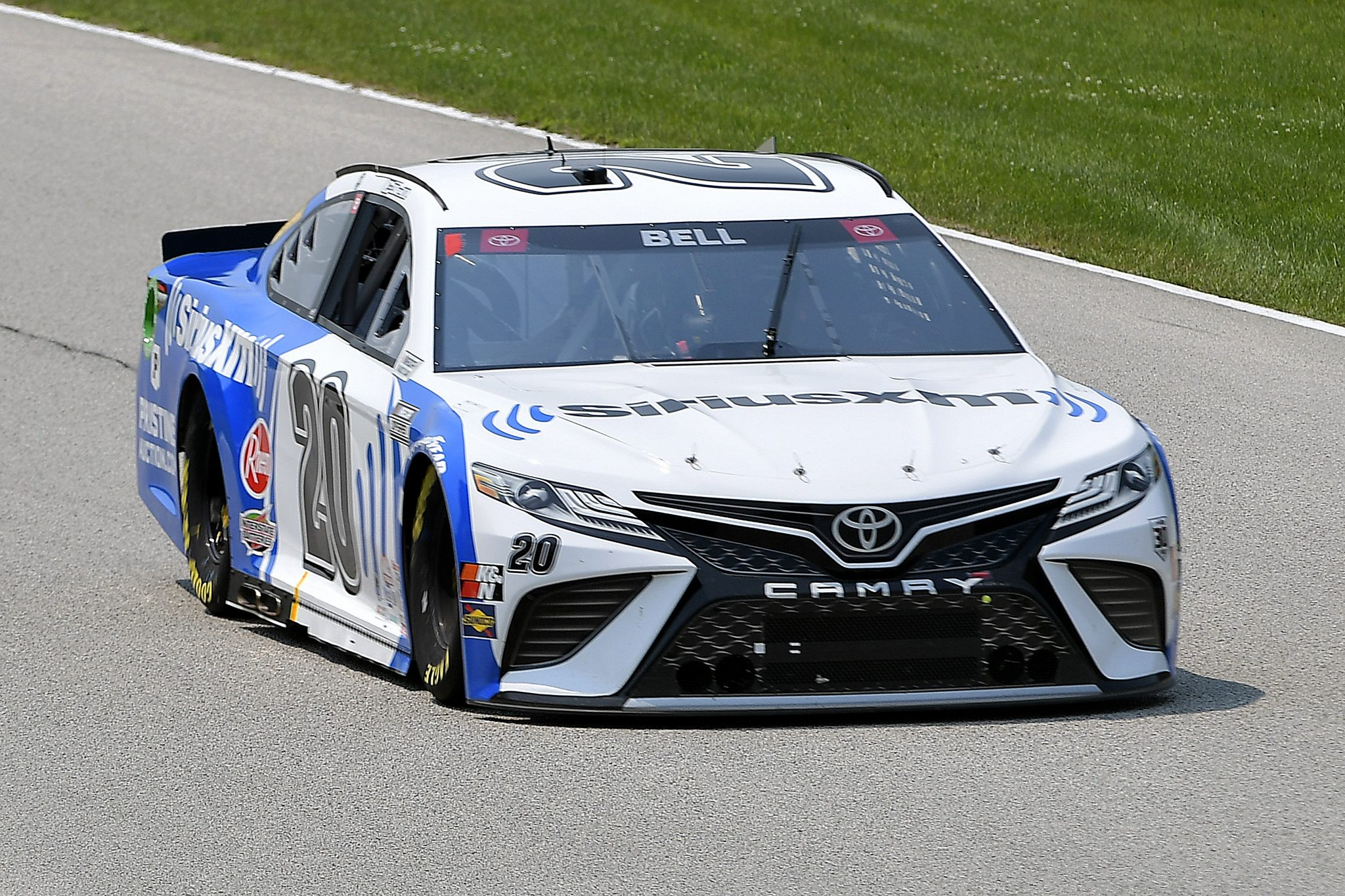ELKHART LAKE, WISCONSIN - JULY 03: Christopher Bell, driver of the #20 Sirius XM Toyota, drives during practice for the NASCAR Cup Series Jockey Made in America 250 Presented by Kwik Trip at Road America on July 03, 2021 in Elkhart Lake, Wisconsin. (Photo by Logan Riely/Getty Images) | Getty Images