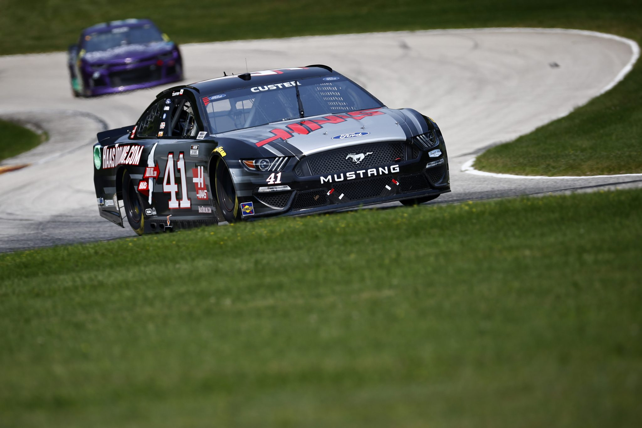 ELKHART LAKE, WISCONSIN - JULY 03: Cole Custer, driver of the #41 HaasTooling.com Ford, drives during practice for the NASCAR Cup Series Jockey Made in America 250 Presented by Kwik Trip at Road America on July 03, 2021 in Elkhart Lake, Wisconsin. (Photo by Jared C. Tilton/Getty Images) | Getty Images